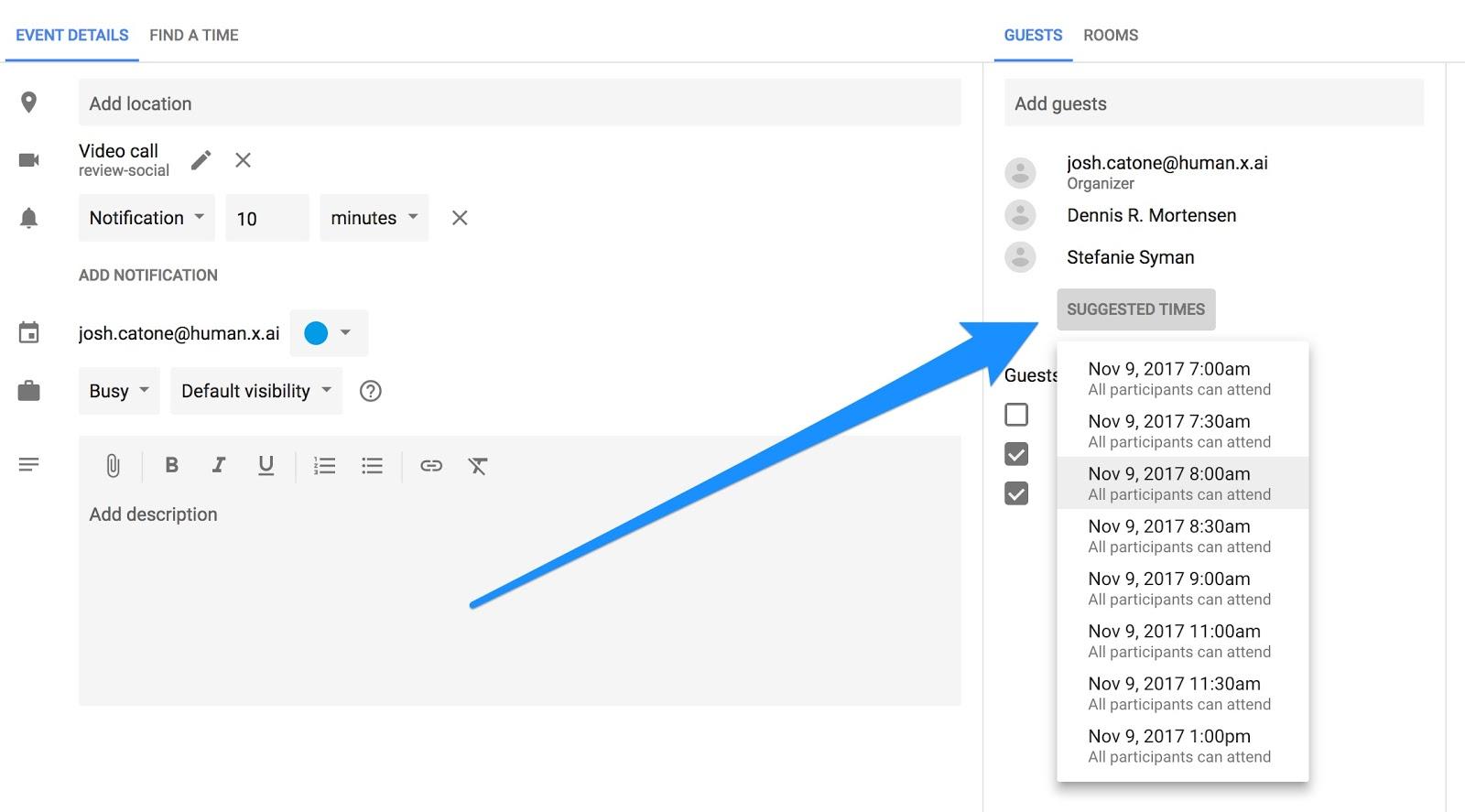 10 Ways To Rock Your Google Calendar – X.ai For Google Calender Adding Notes