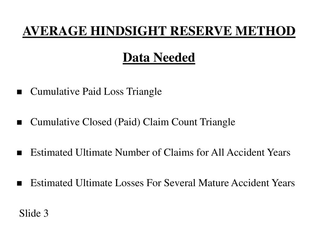 1998 Casualty Loss Reserve Seminar Intermediate Track Ii Intended For Clendar Year Verse Accident Year