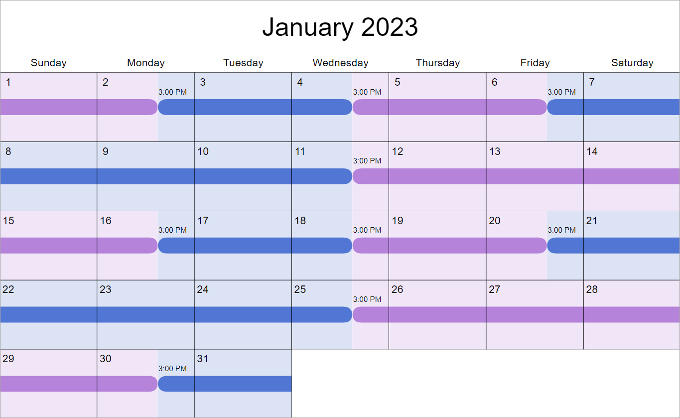 2 2 5 5 Visitation Schedule Examples: How Does It Work? In Kern County Family Court Calendar