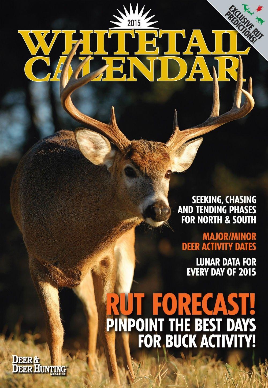 2015 Ddh Whitetails Wall Calendar: Lunar Calendar & Rut Within Deer & Deer Hunting Whitetail Lunar Calendar