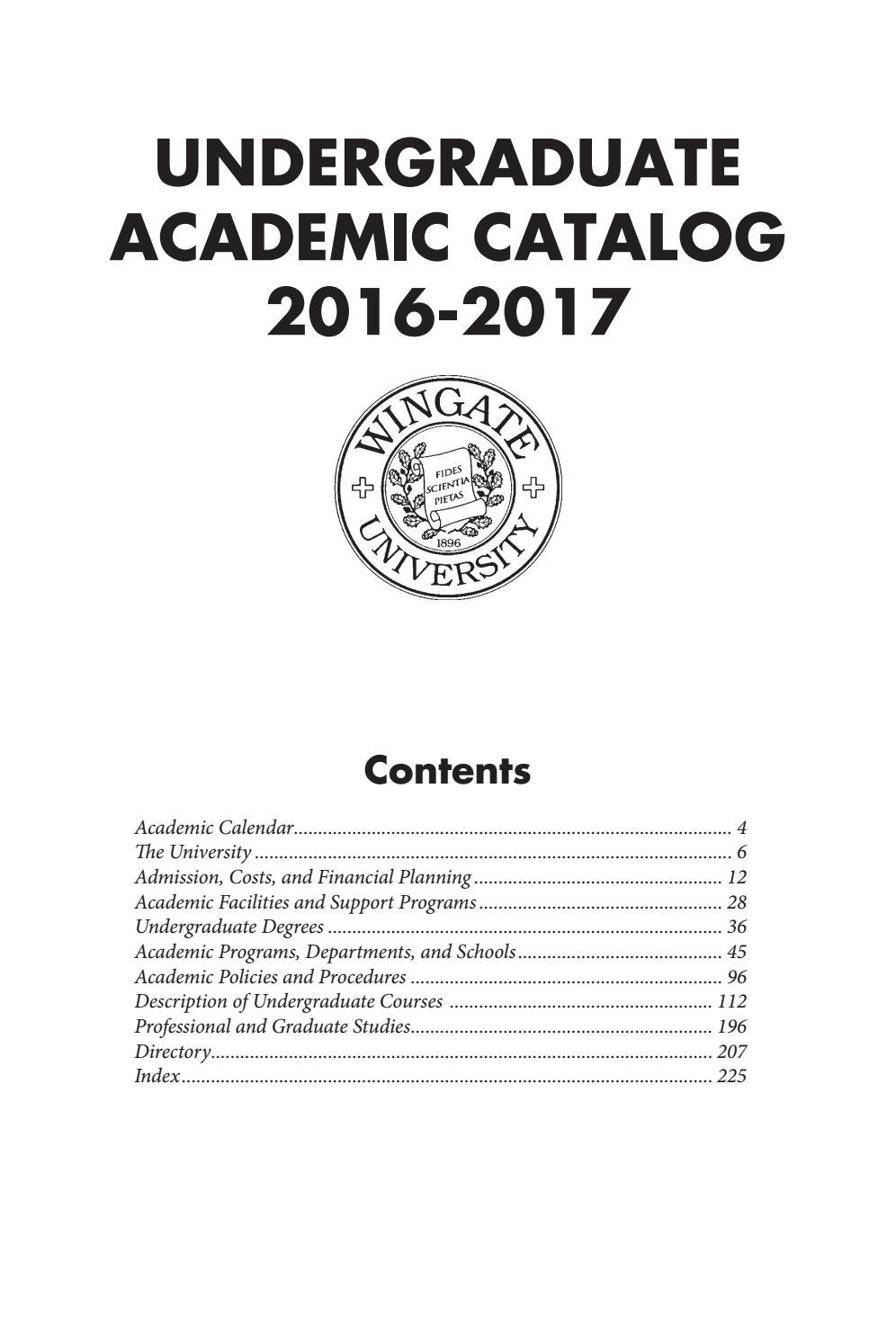 2016 17 Undergraduate Catalogwingate University – Issuu Throughout Kent State University Academic Calendar 2021