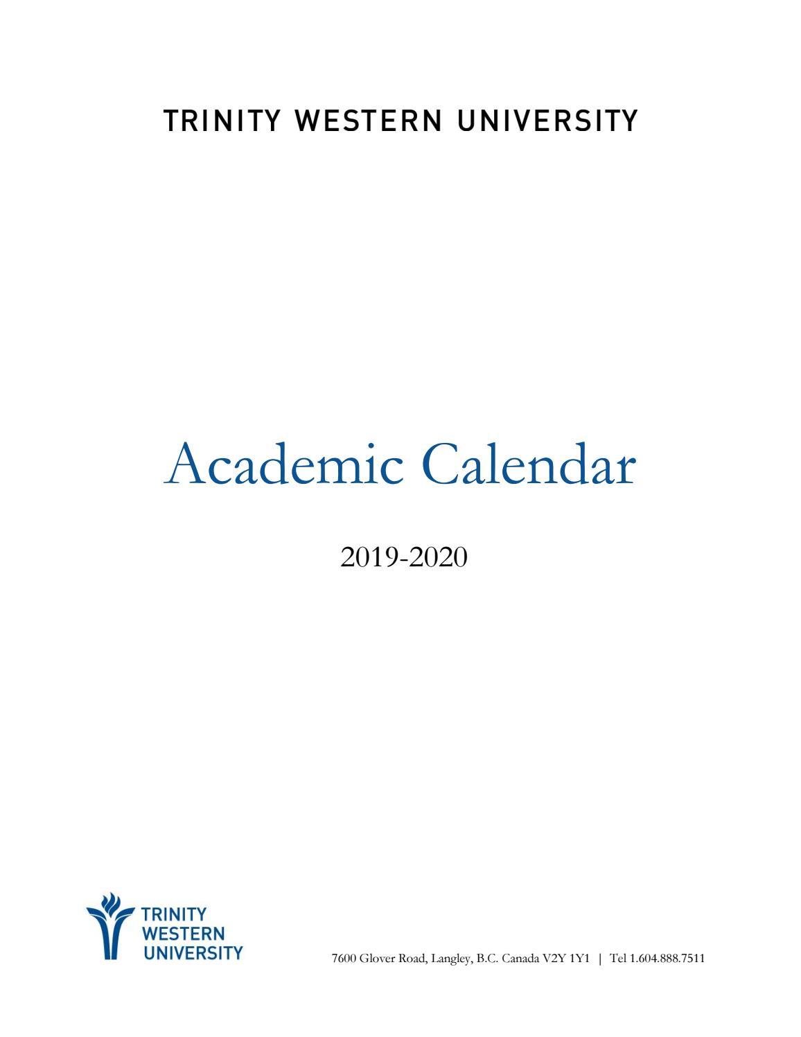 2019-20 Academic Calendartwu - Issuu pertaining to Saint Rose Academic Calendar