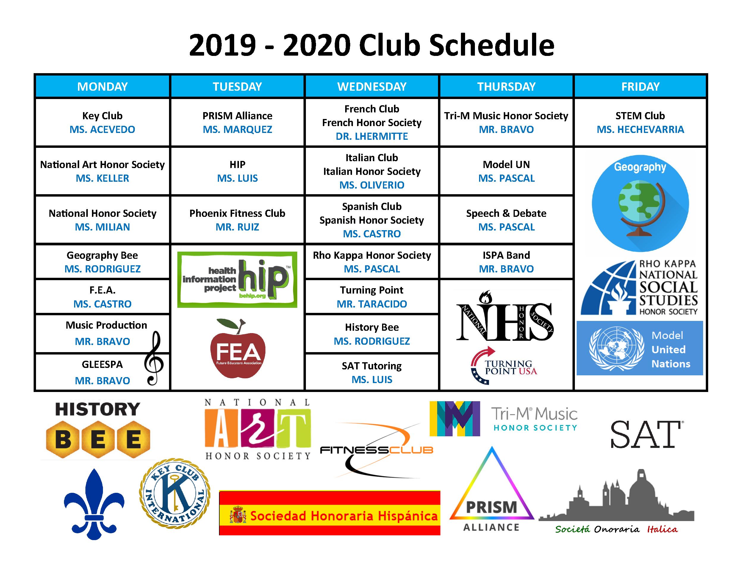 2019 2020 Club Schedule – Ispa For Miami Dade College School Calendar 2021 2020