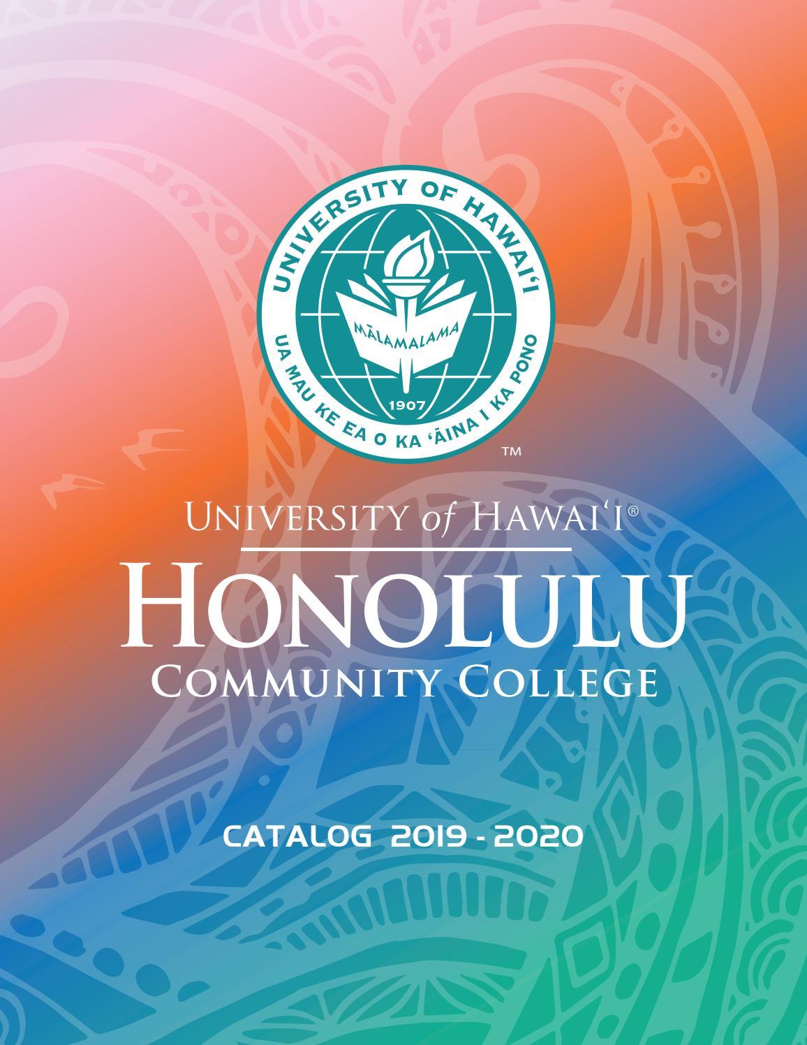 2019 2020 College Cataloghonolulu Community College – Issuu In Owens Community College Calendar 2020