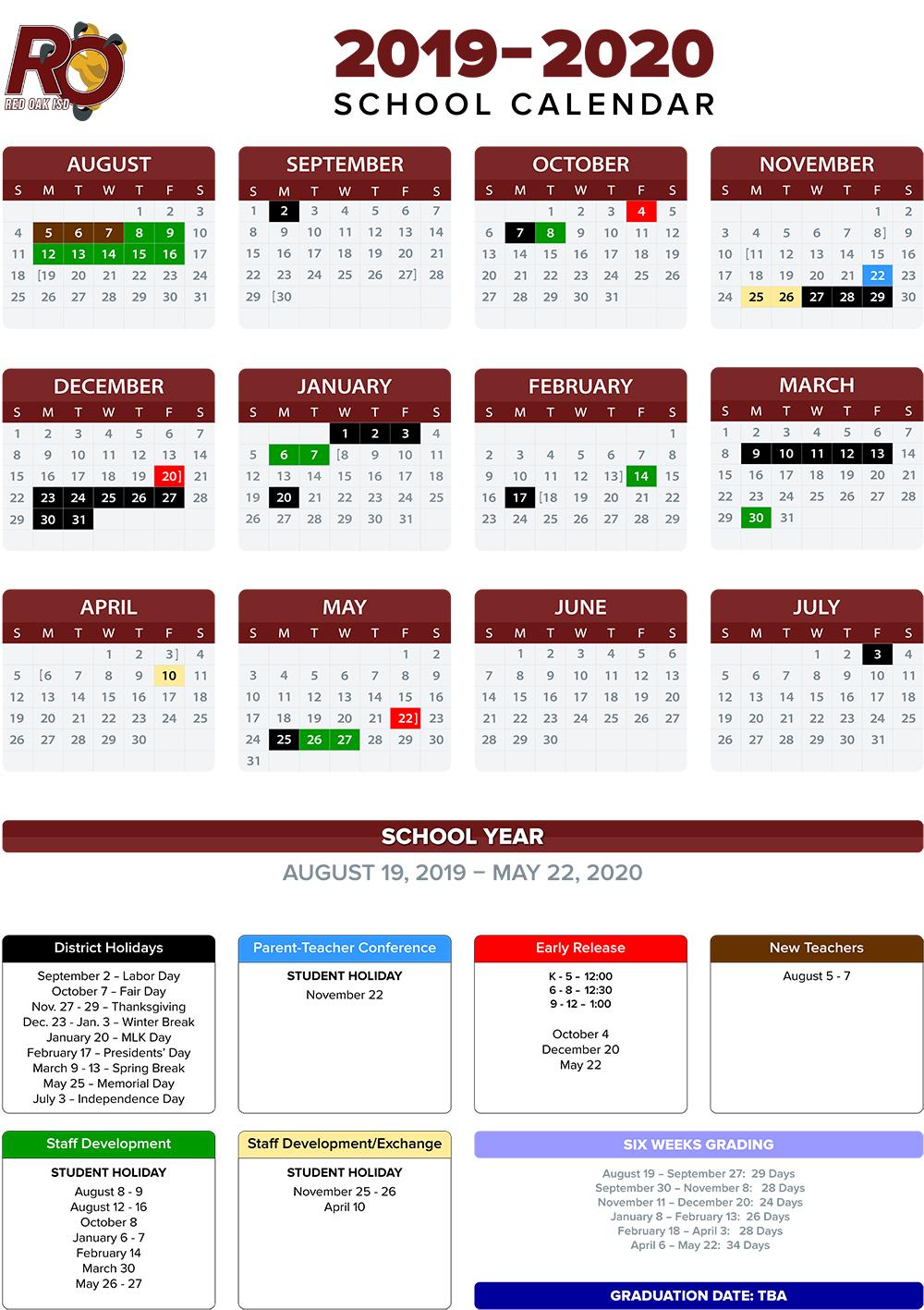 2019 2020 School Calendar / Annual Calendar Regarding Johnston County Public Schools Calendar 2021