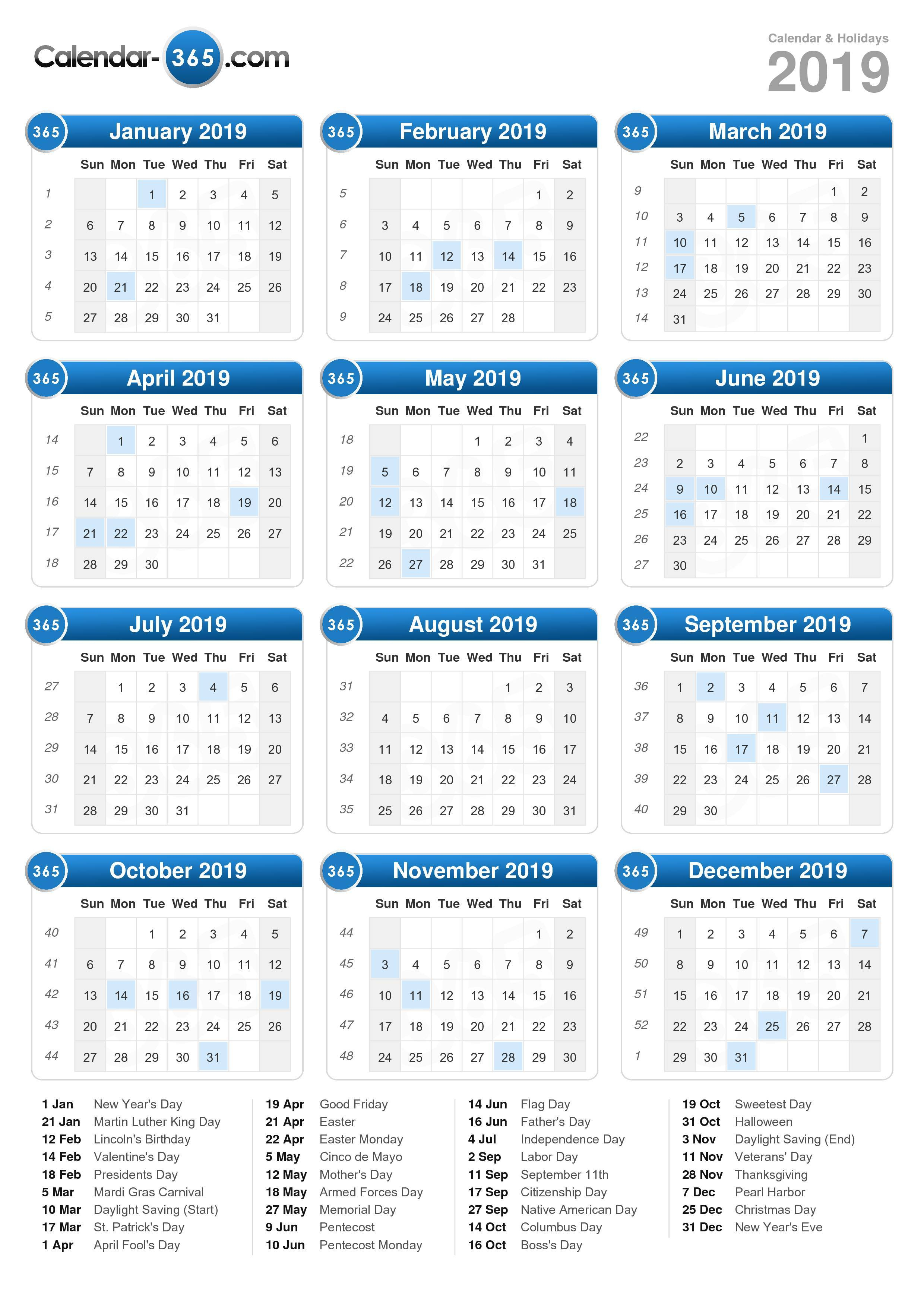 2019 Calendar With Show Me My Calendar For Tomorrow