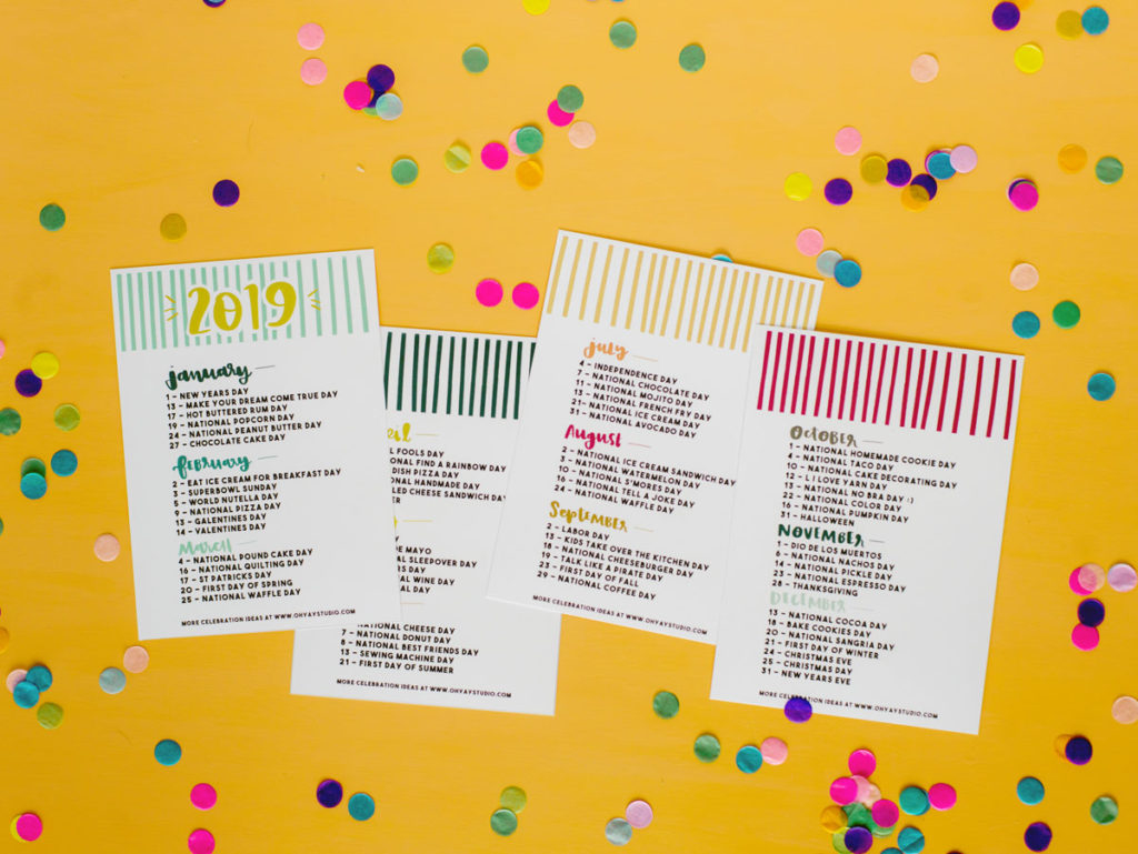 "2019 ""Everyday Holiday"" Printable Calendar With Regard To Everyday Is A Holiday Calendar"