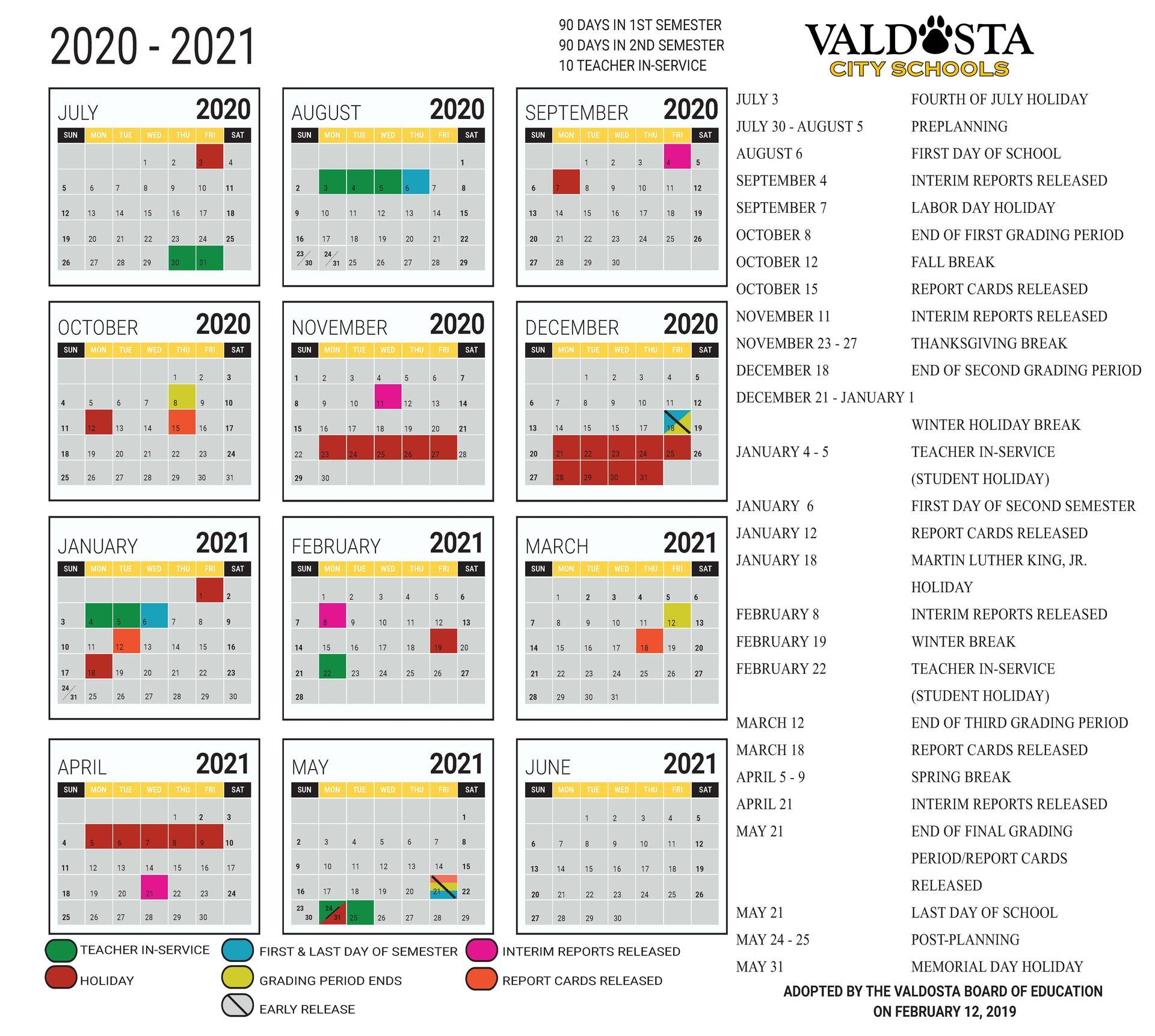 2020 - 2021 Academic Calendar – Student Support Services Pertaining To Gsu Academic Calendar 2021