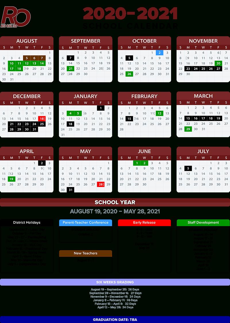 2020 2021 School Calendar / Annual Calendar - 2020 2021 For Johnston County Public Schools Calendar 2021