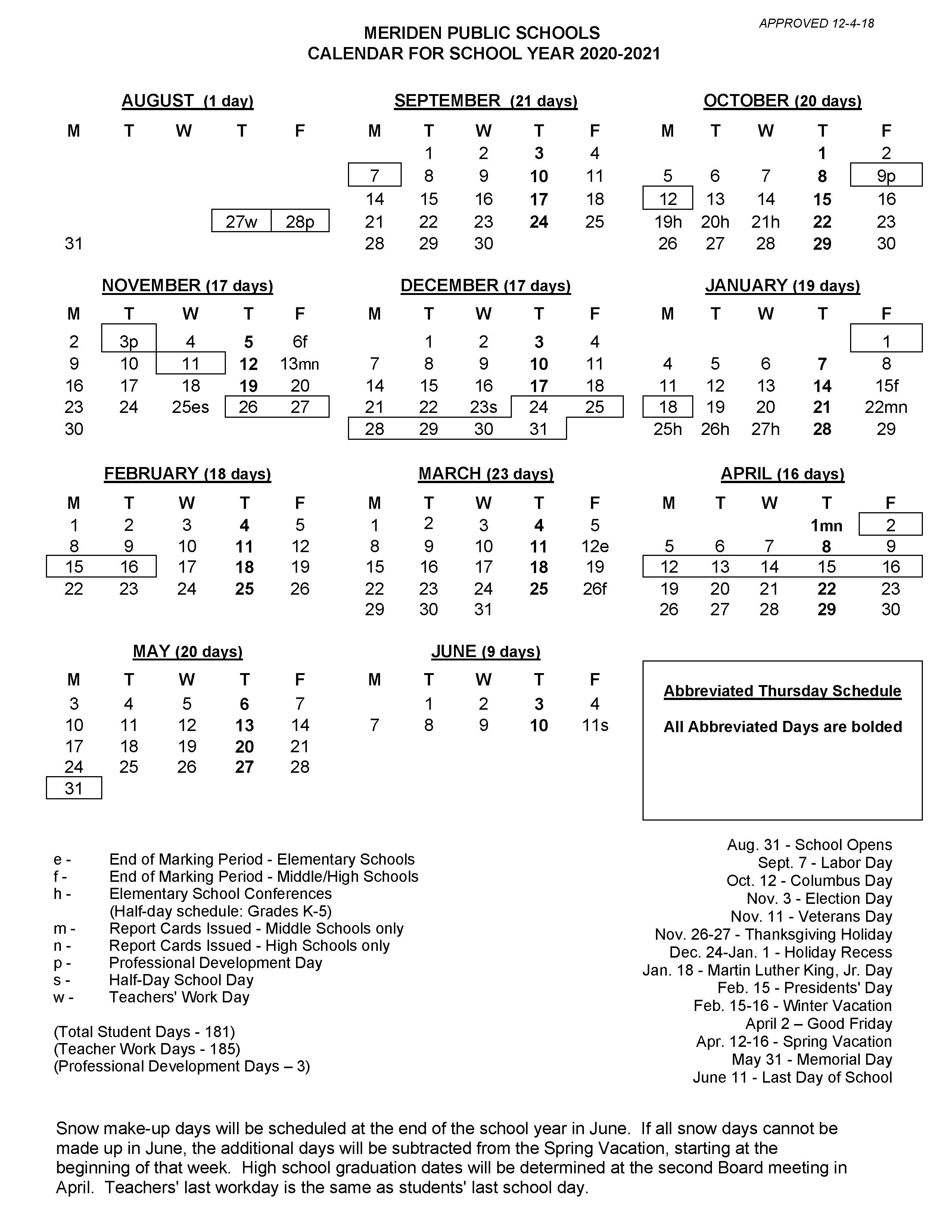 2020 2021 School Calendar Regarding East Hartford School Calendar 2021 2021