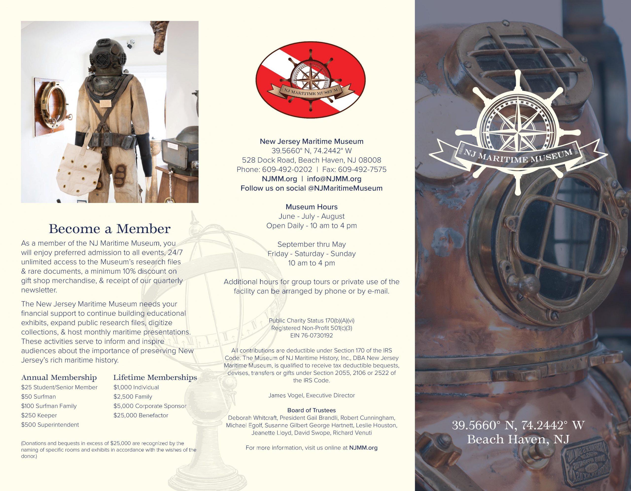 2020 Nj Maritime Museum Brochure – New Jersey Maritime Museum Intended For Order Wildwood Nj Usa Tourist Brochure