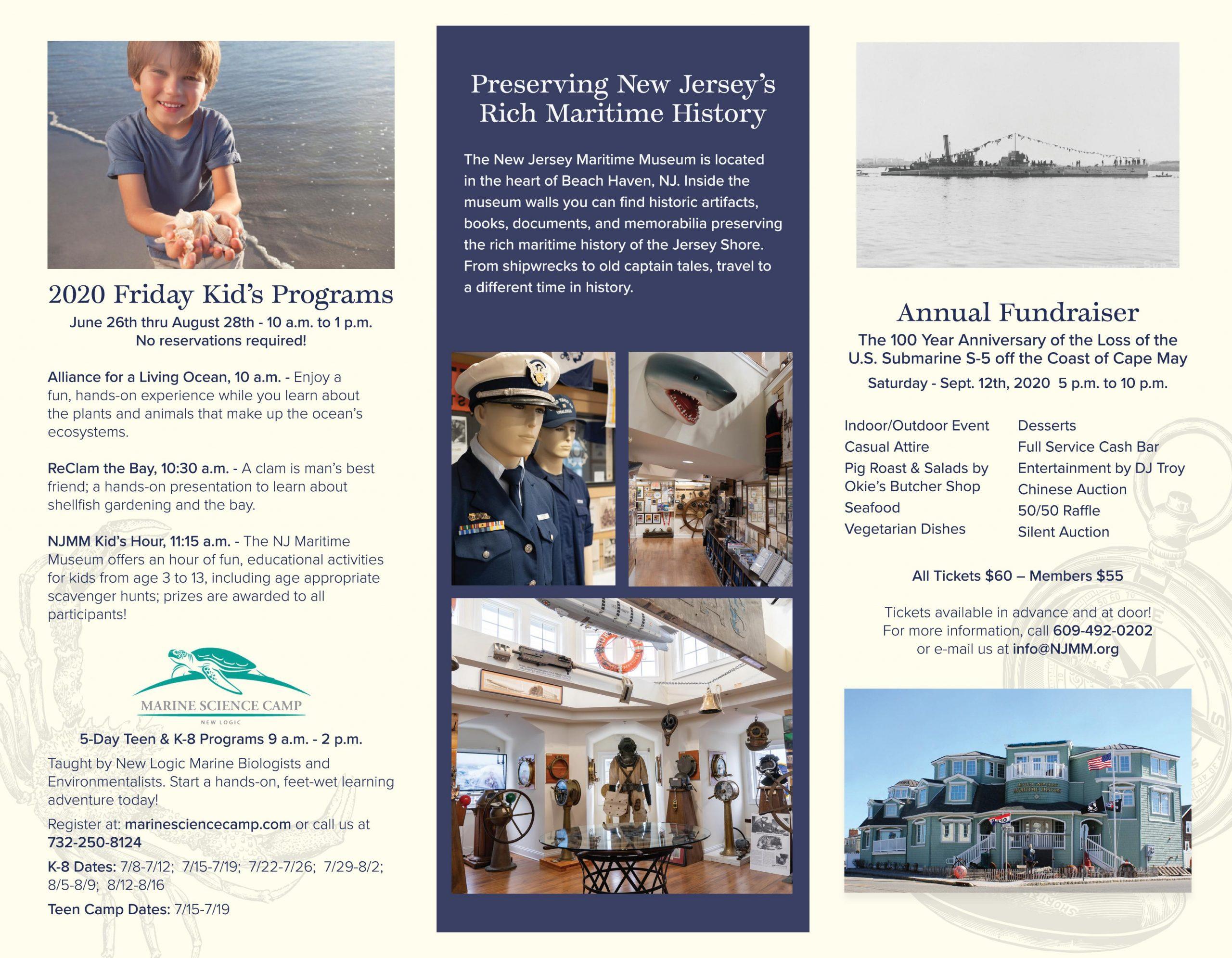 2020 Nj Maritime Museum Brochure - New Jersey Maritime Museum Intended For Order Wildwood Nj Usa Tourist Brochure