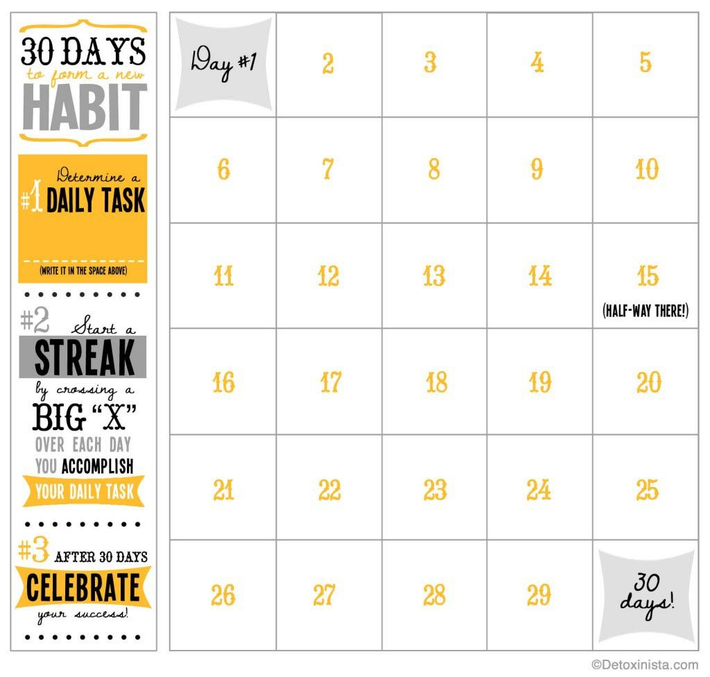 30-Day Printable Calendar (With Images) | Workout Calendar within Blank 30 Day Fitness Calendar