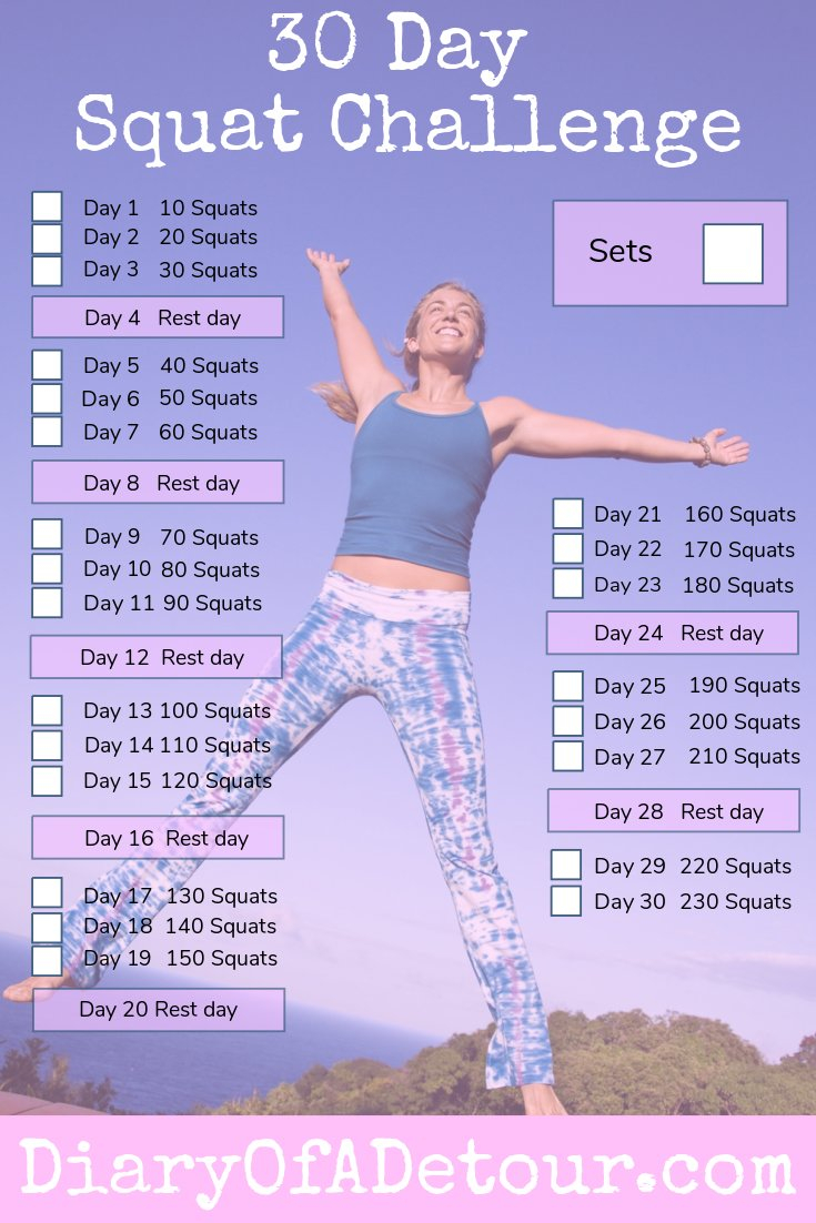 30 Day Squat Challenge : A Fitness Challenge For All Abilities With Regard To 30 Day Squate Challenge Printable