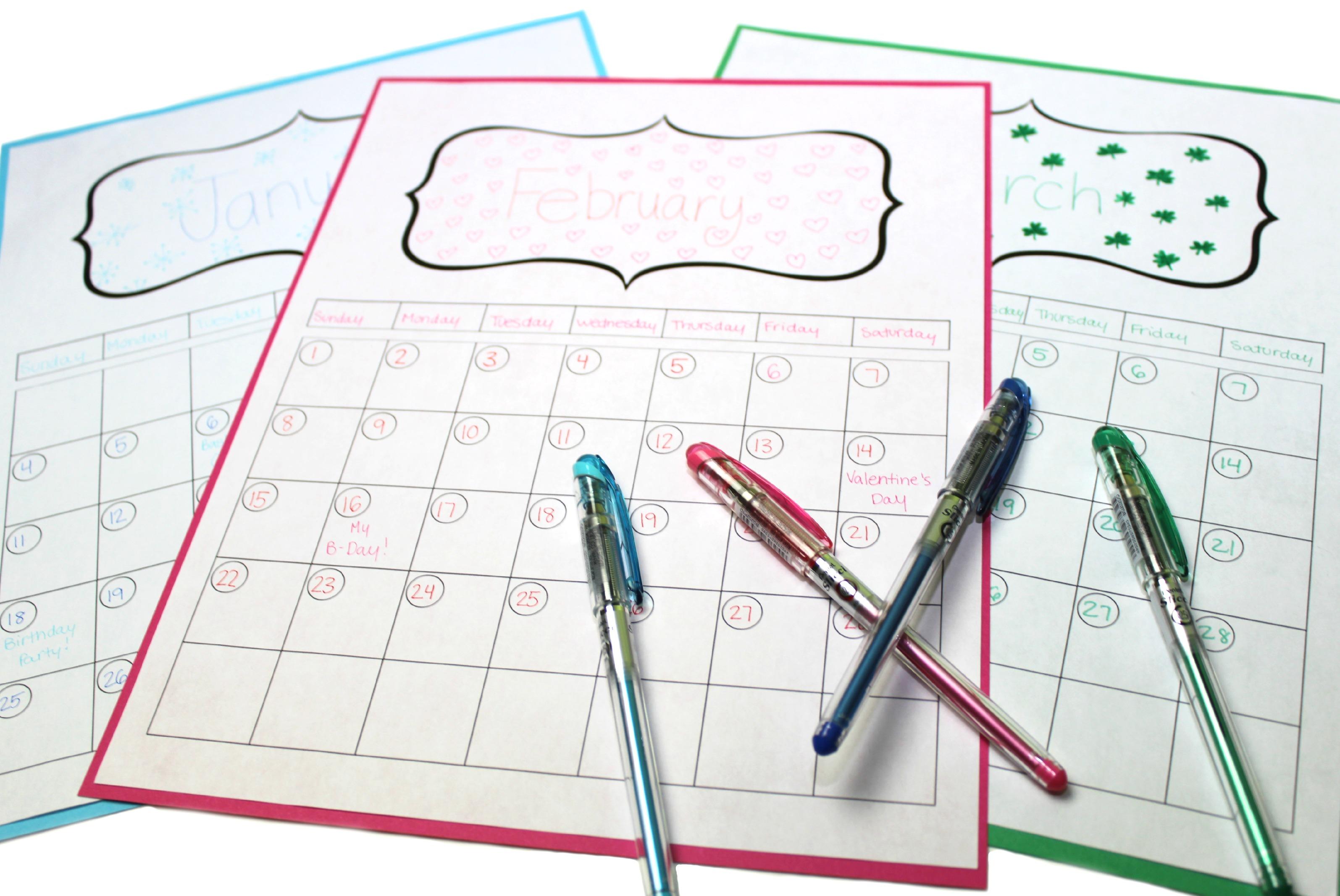 8 Make Your Own Design 2015 Calendar Printable Images With Create Your Own Calendar Printable