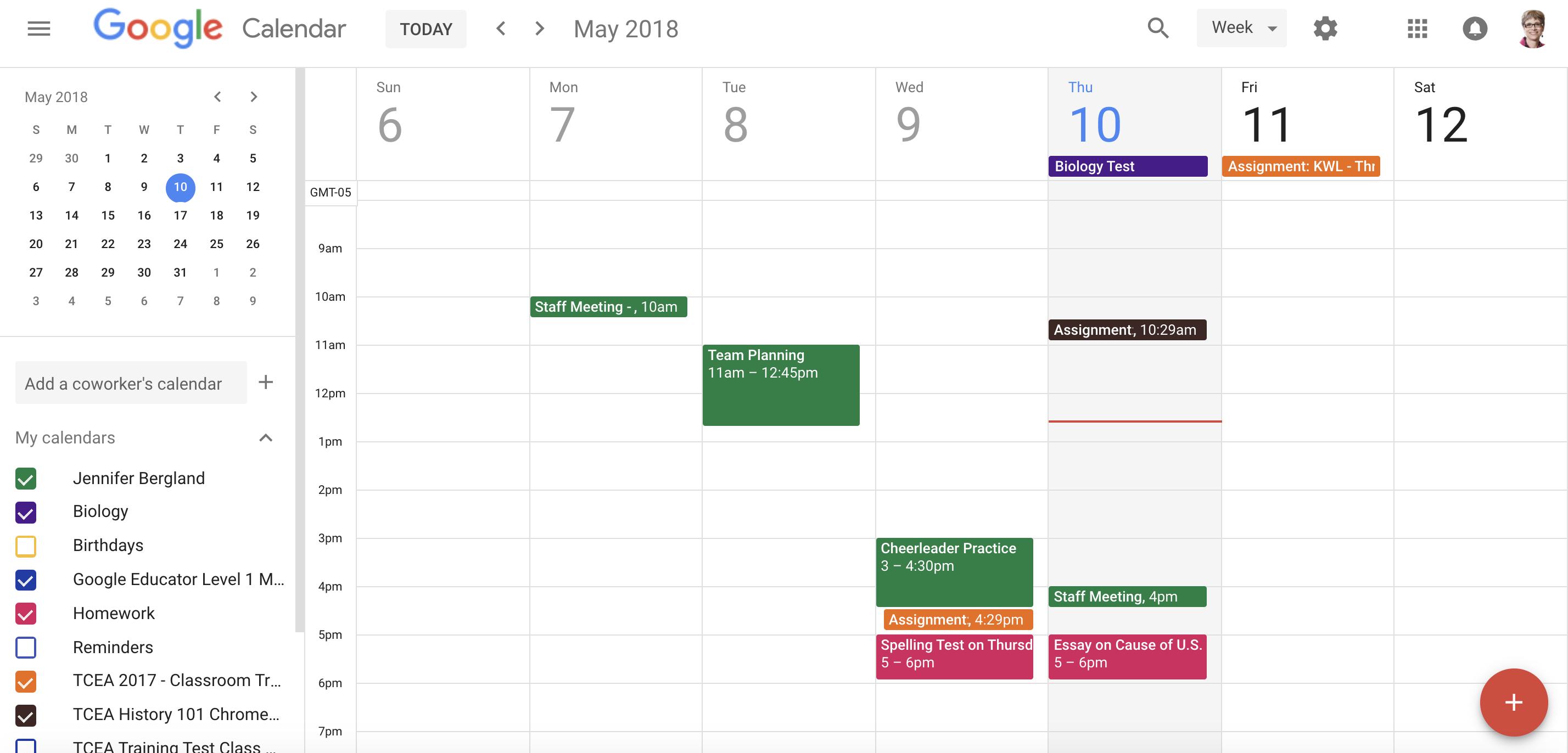 A Teacher's Guide To Google Calendar • Technotes Blog For How To Create A Printable Calendar In G Suite