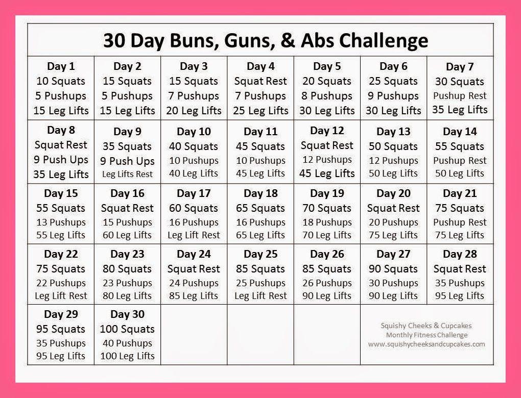 Ab Challenge Calendar Printable New Calendar Template Site In 30 Day Squat Challenge Calendar