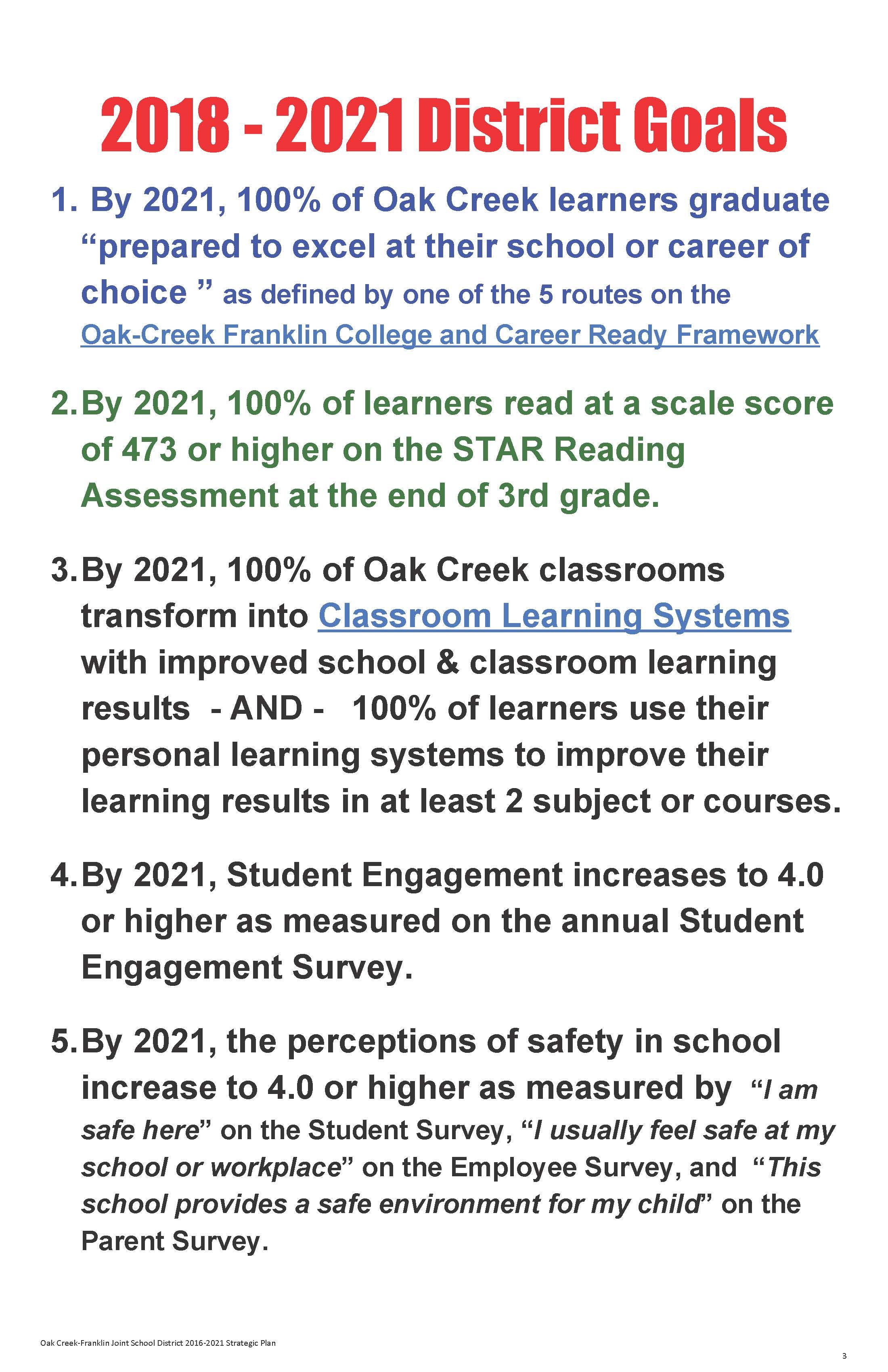 About Us – Oak Creek – Franklin Joint School District In Menomonee Falls School District Calendar 2021