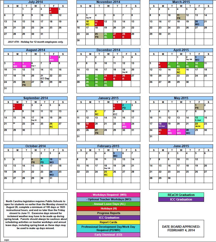 Academic: Academic Calander Pertaining To 2015 Doe School Calendar