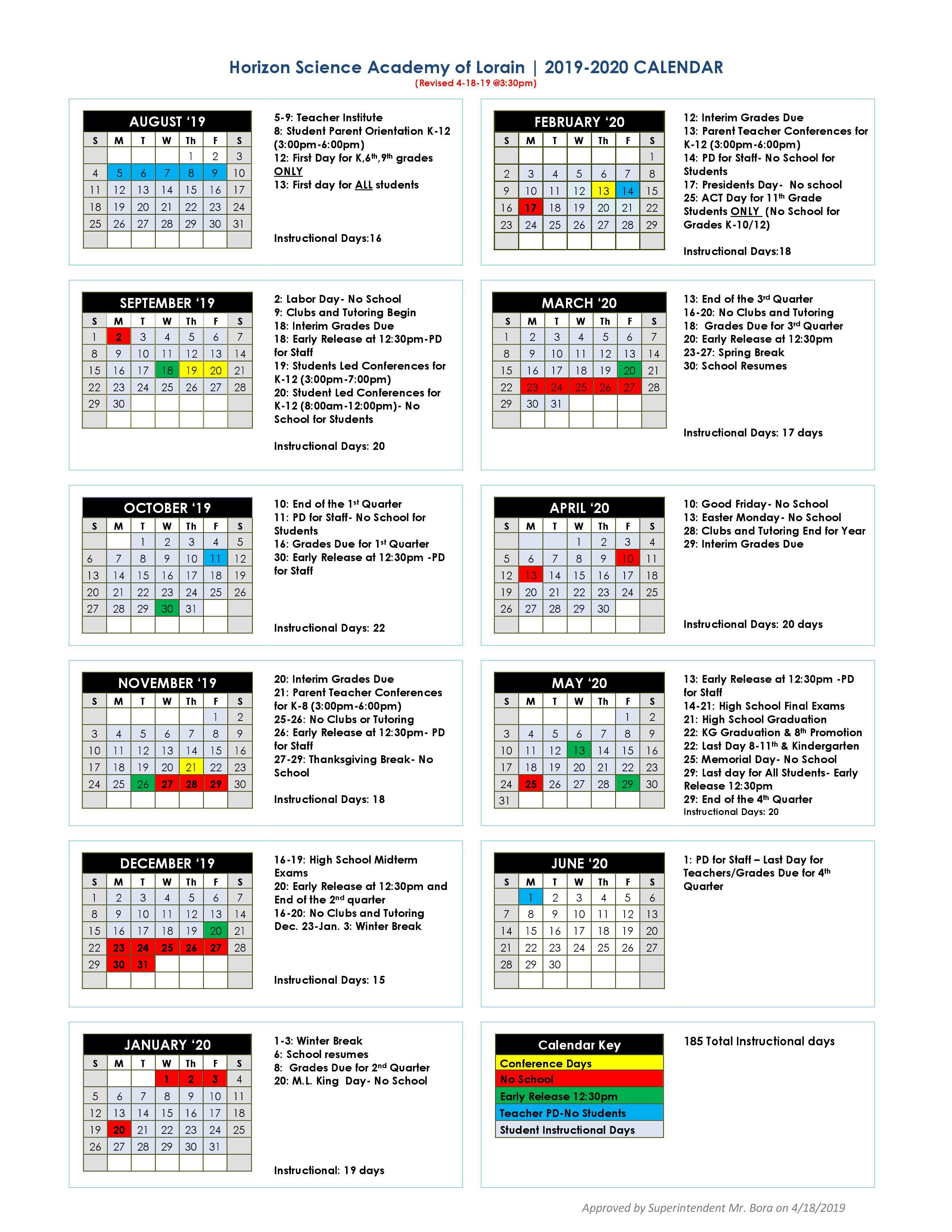 Academic Calendar – Hsa Lorain Charter School (K 12) With Case Western Reserve University Academic Calendar