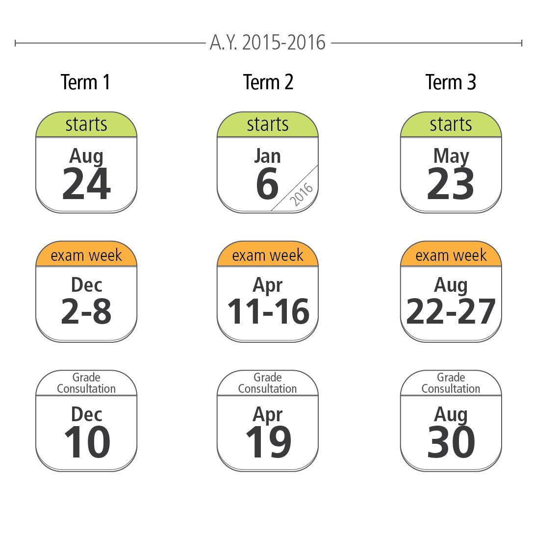 Academic Calendar Shift - De La Salle University - Medium Throughout La Salle University Calander