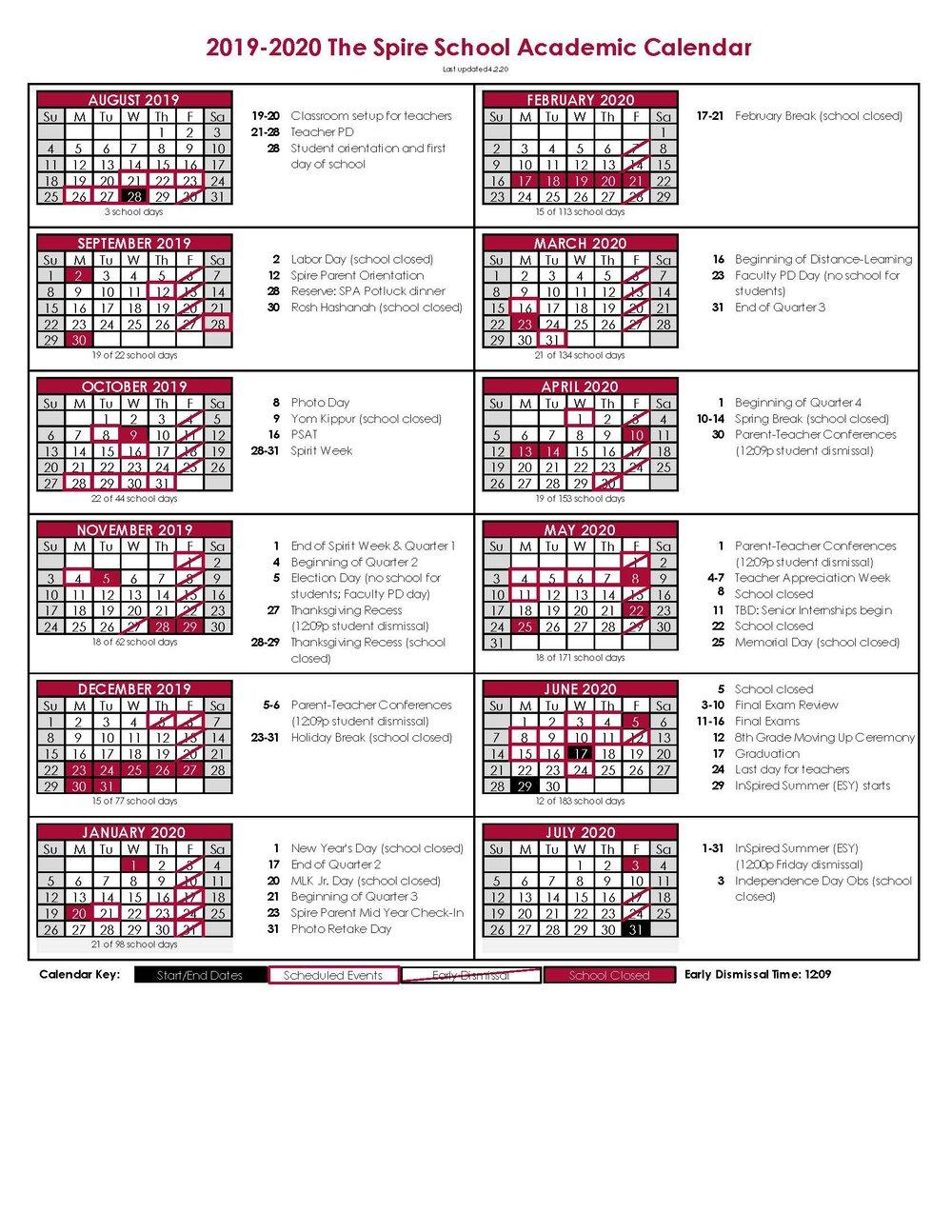 Academic Calendar — The Spire School Within Queensborough Community College Academic Calendar