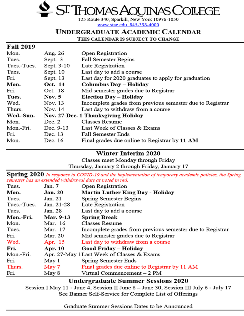 Academic Calendars throughout Academic Calender For Middlesex County College For 2021