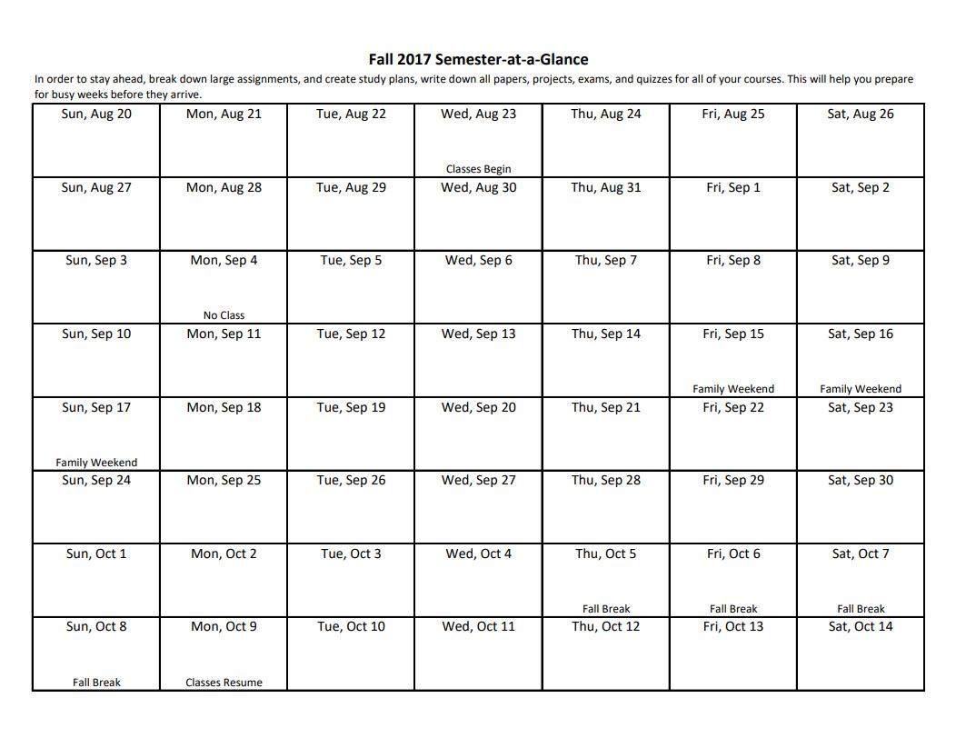 Academic Planning Tools : University Of Dayton, Ohio for University Of Dayton Class Schedule Blank Template