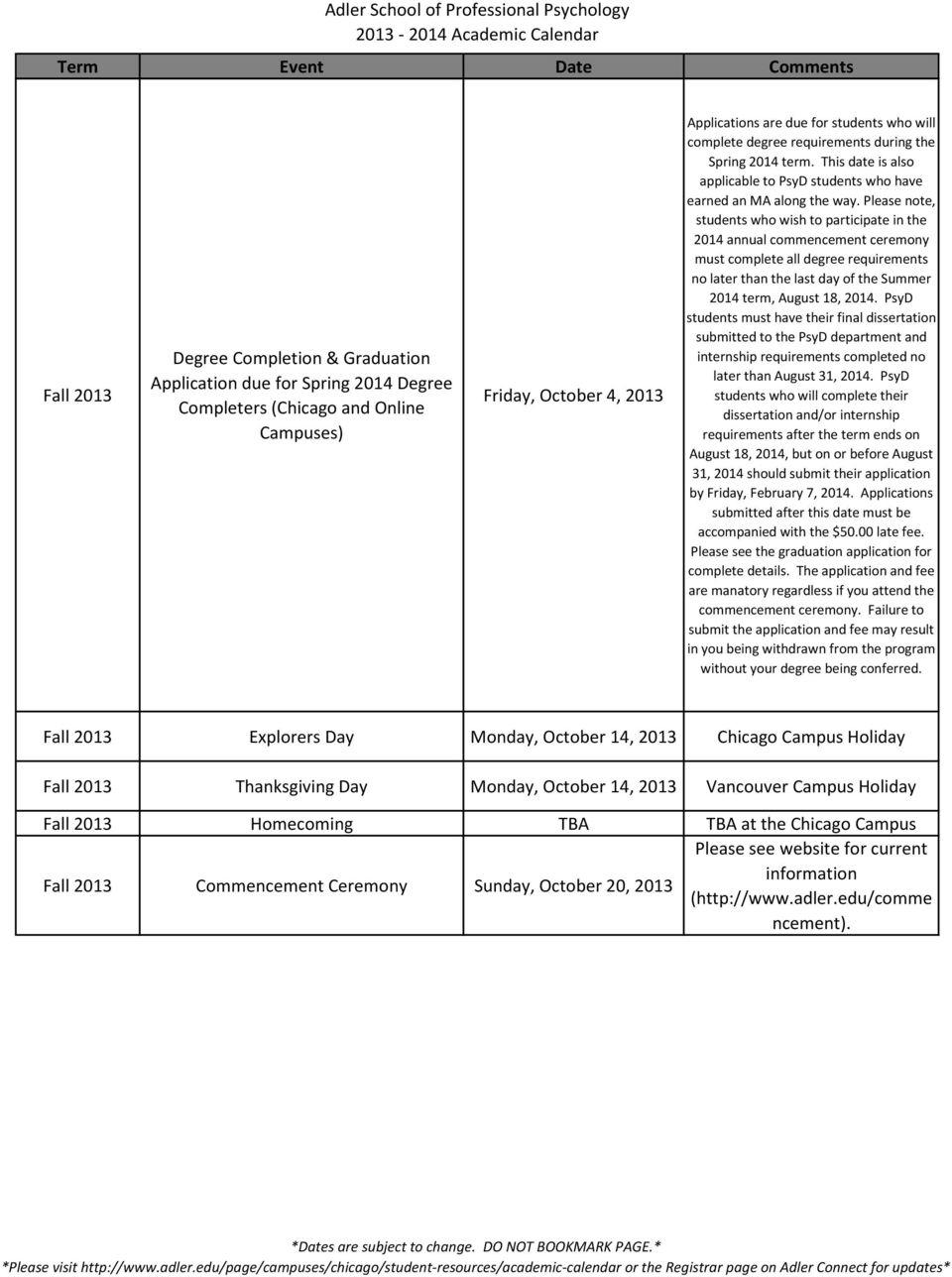 Adler University Academic Calendar | | 360 Academic Calendar Inside Ga State University Academic Calendar 2020