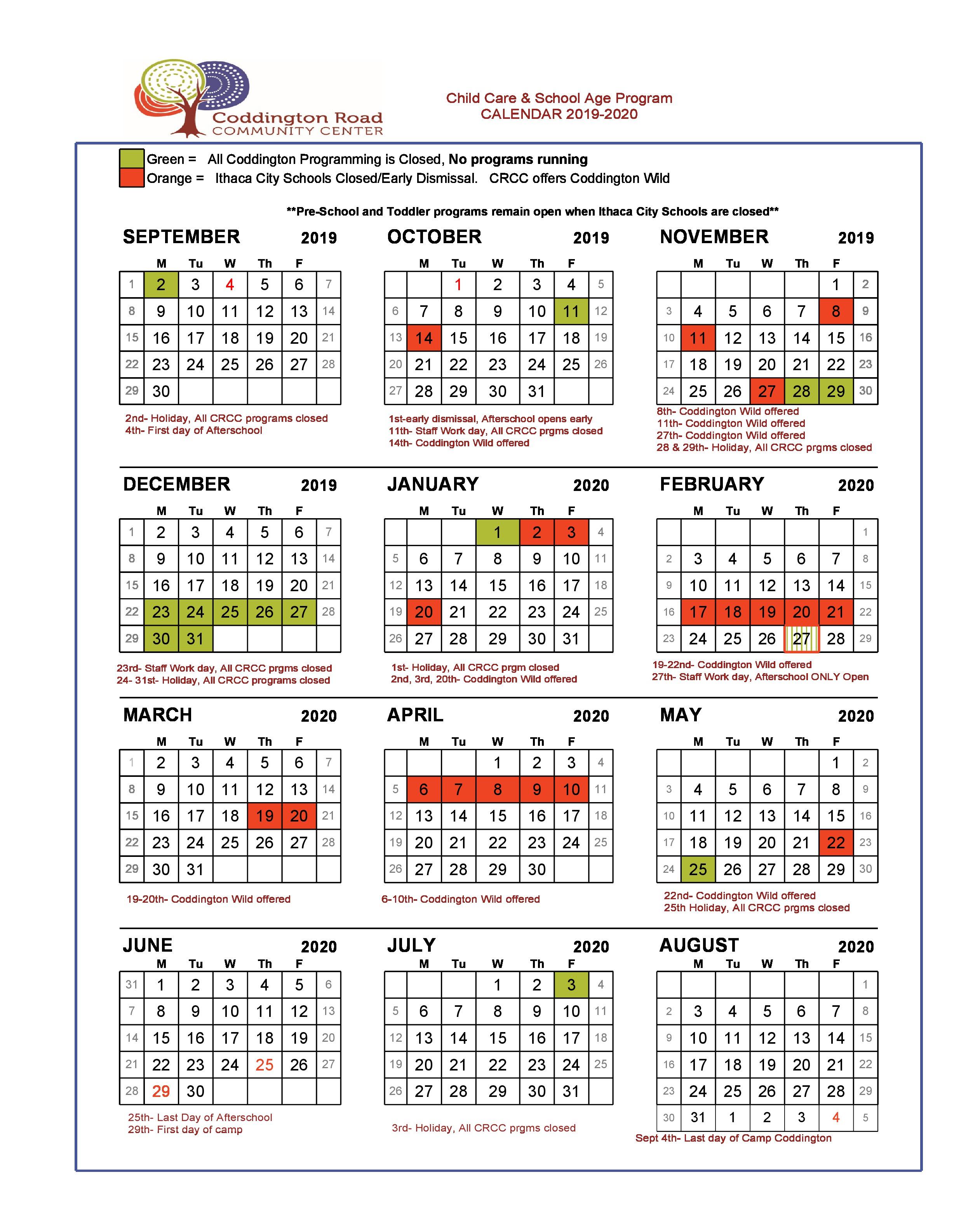 Afterschool Program – Coddington Road Community Center Regarding Ithaca City School District Calendar