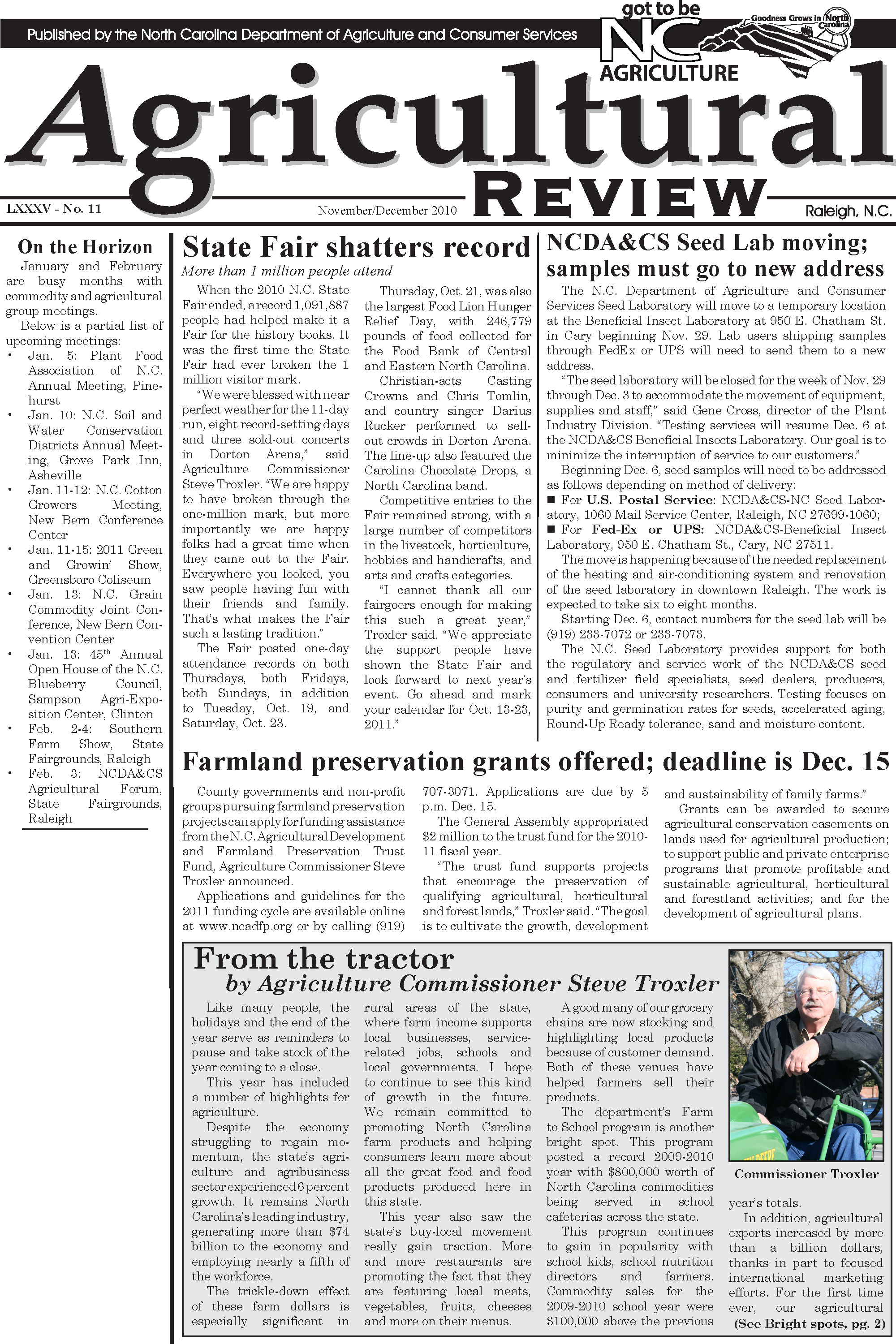 Agricultural Review – State Publications – North Carolina With Regard To James City School 2021/2010 Calendar