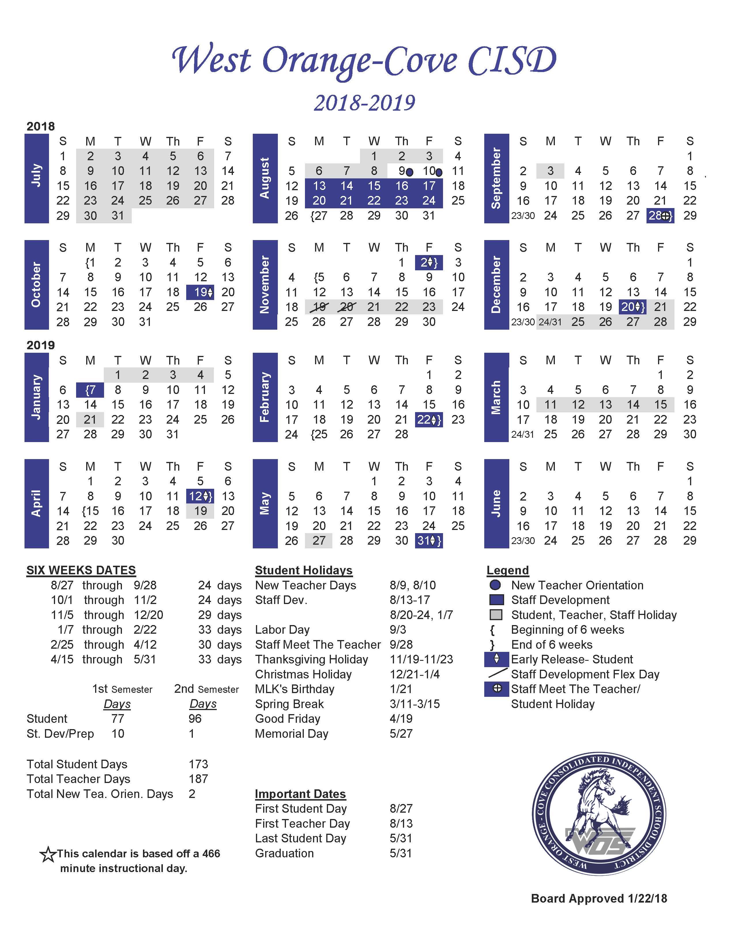 Aisd Calendar 2020 – Slubne Suknie In West Orange School District Printale Academic Schoool Schedule