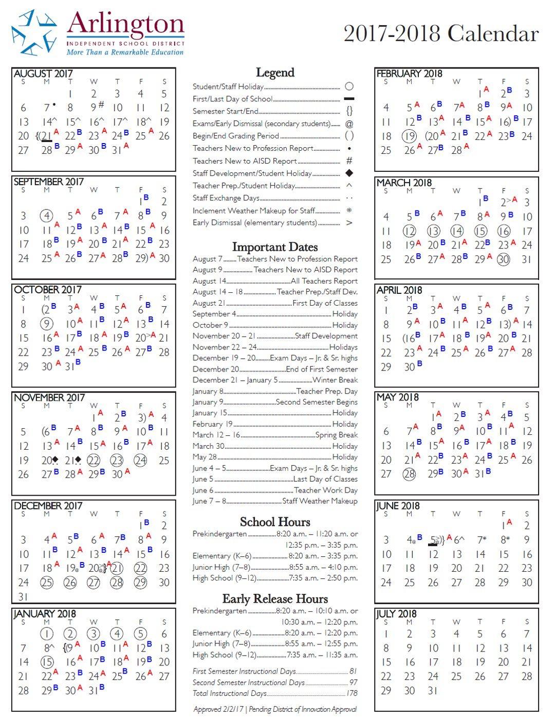 Aisd Calendar Arlington Texas – Slubne Suknie In Sam Houston Academic Calendar