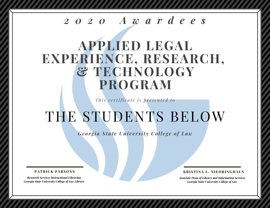 Alert 2020 Certificate Awardees – The Blackacre Times In Georgia State University Holiday Schedule 2020