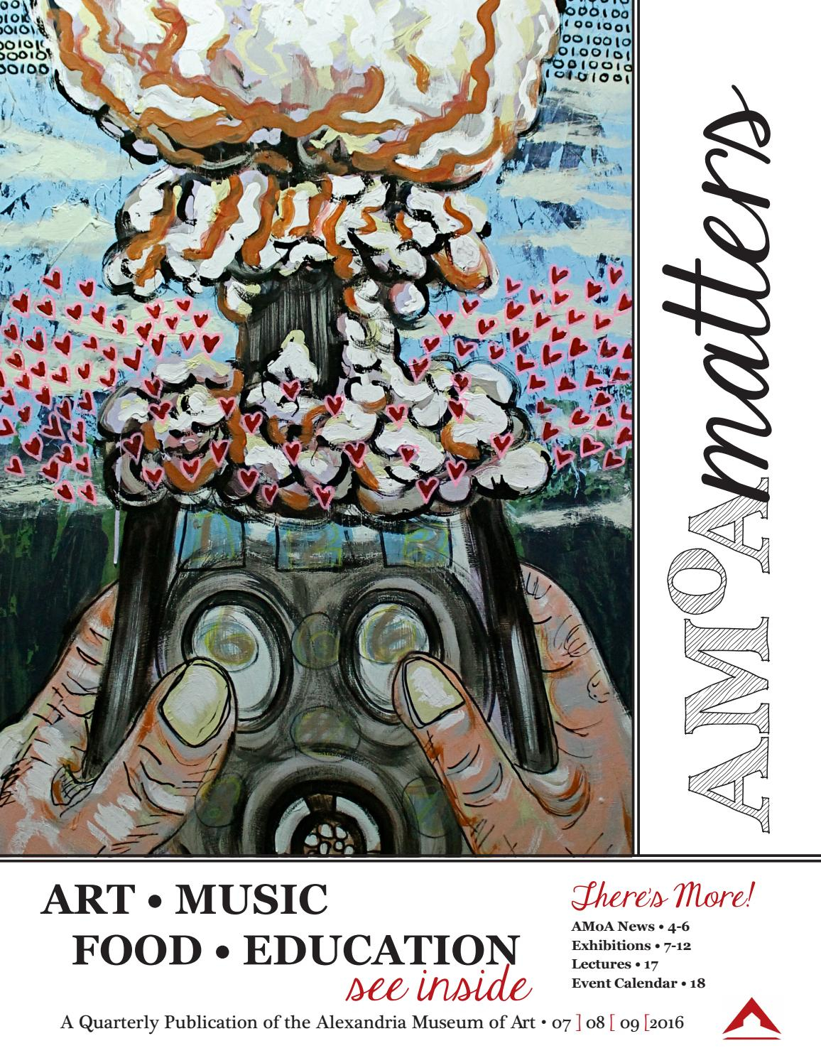 Amoa Matters July September 2016Alexandria Museum Of Art Within Rapides Parish Archived Calendar 2014
