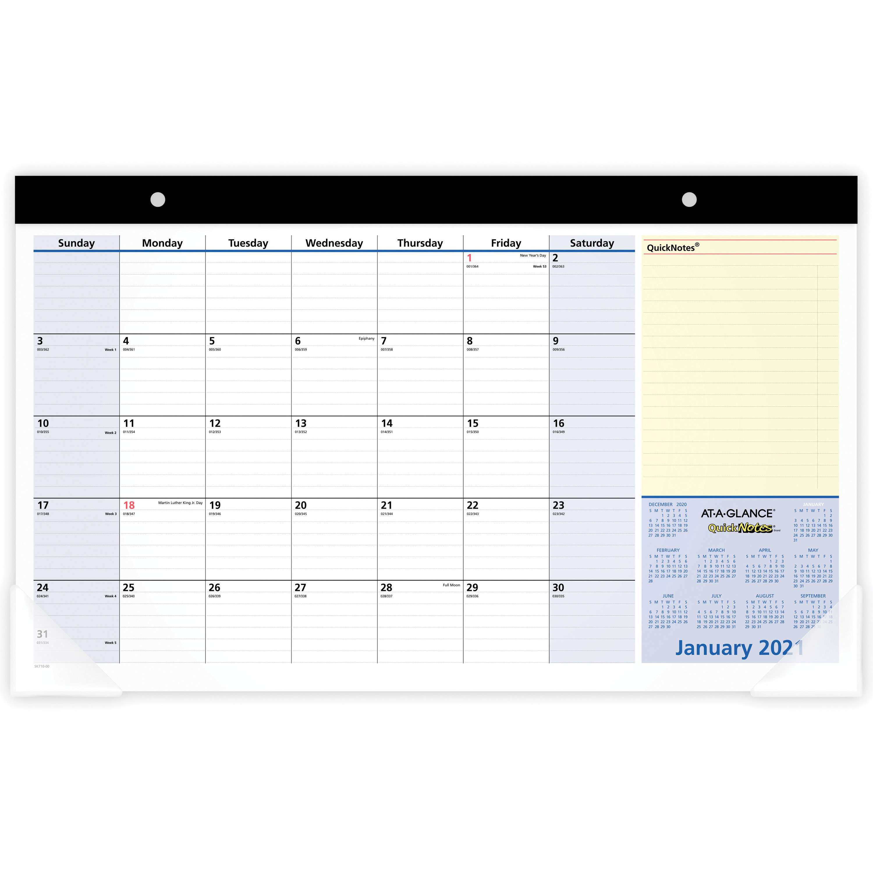 """At A Glance Quicknotes Monthly Desk Pad – Yes – Monthly – 1.1 Year –  January 2020 Till January 2021 – 1 Month Single Page Layout – 17 3/4"""" X 10  7/8"""" Within Houston County Ga Calendar 2021 2021"""