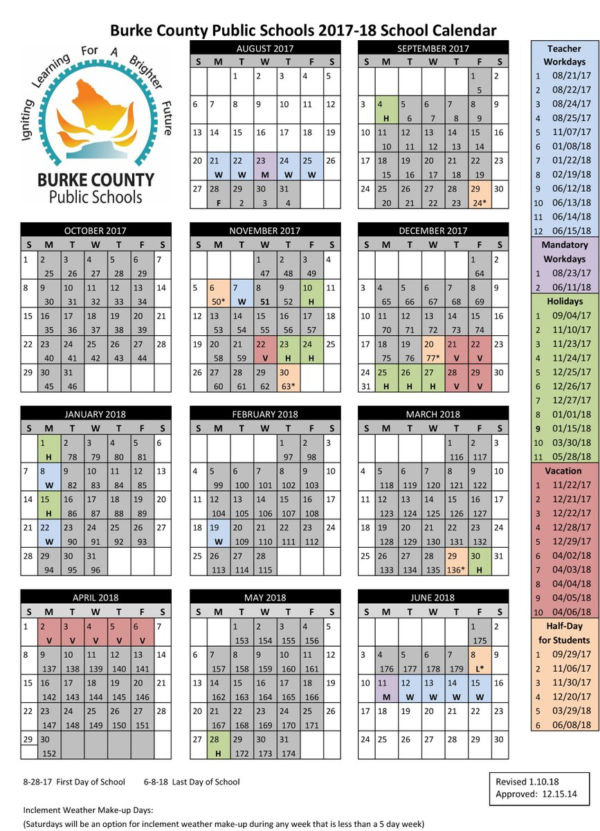 """Bcps On Twitter: """"we've Revised Our School Calendar. Monday with Burke County Public Schools Nc Calendar"""