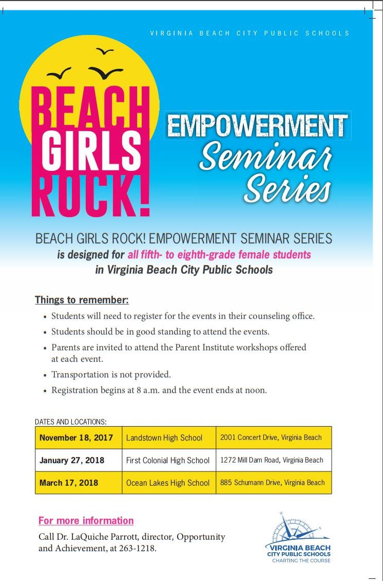 Beach Girls Rock! Empowerment Series | Lms Gifted Bluefish With Regard To Was School Out In Virginia Beach On January 27