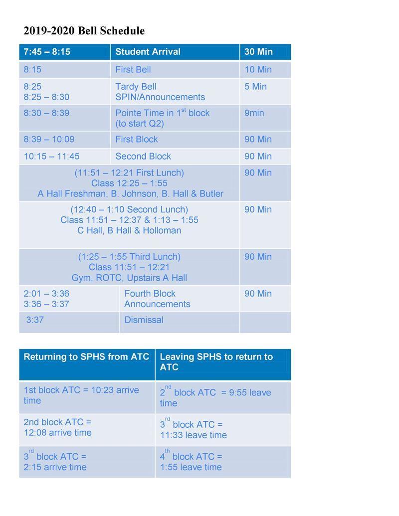 Bell Schedule / Bell Schedule Intended For Rock Hill District 3 Calendar