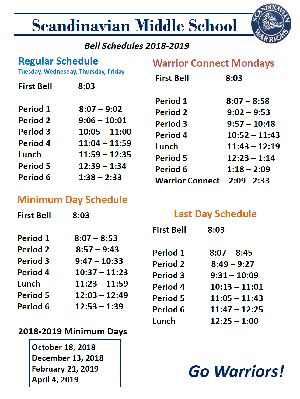 Bell Schedule Throughout Fresno Unified School Calendar