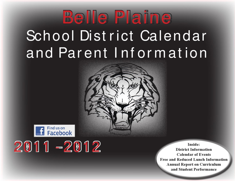 Belle Plaine 2011  2012 School Calendarbelle Plaine Regarding White Plains School District 2011 2012 School Calendar