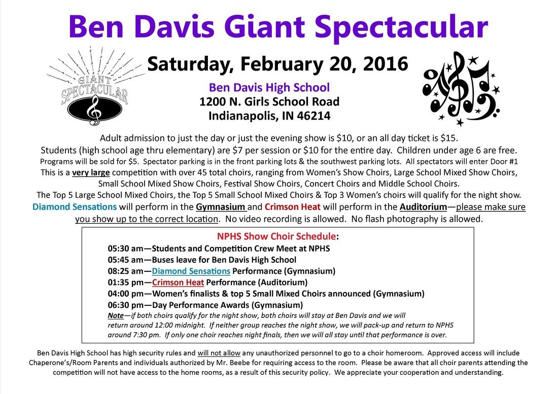 Ben Davis High School, Giant Spectacular 2016 – Nphs Choral In Ben Davis High School Calendar