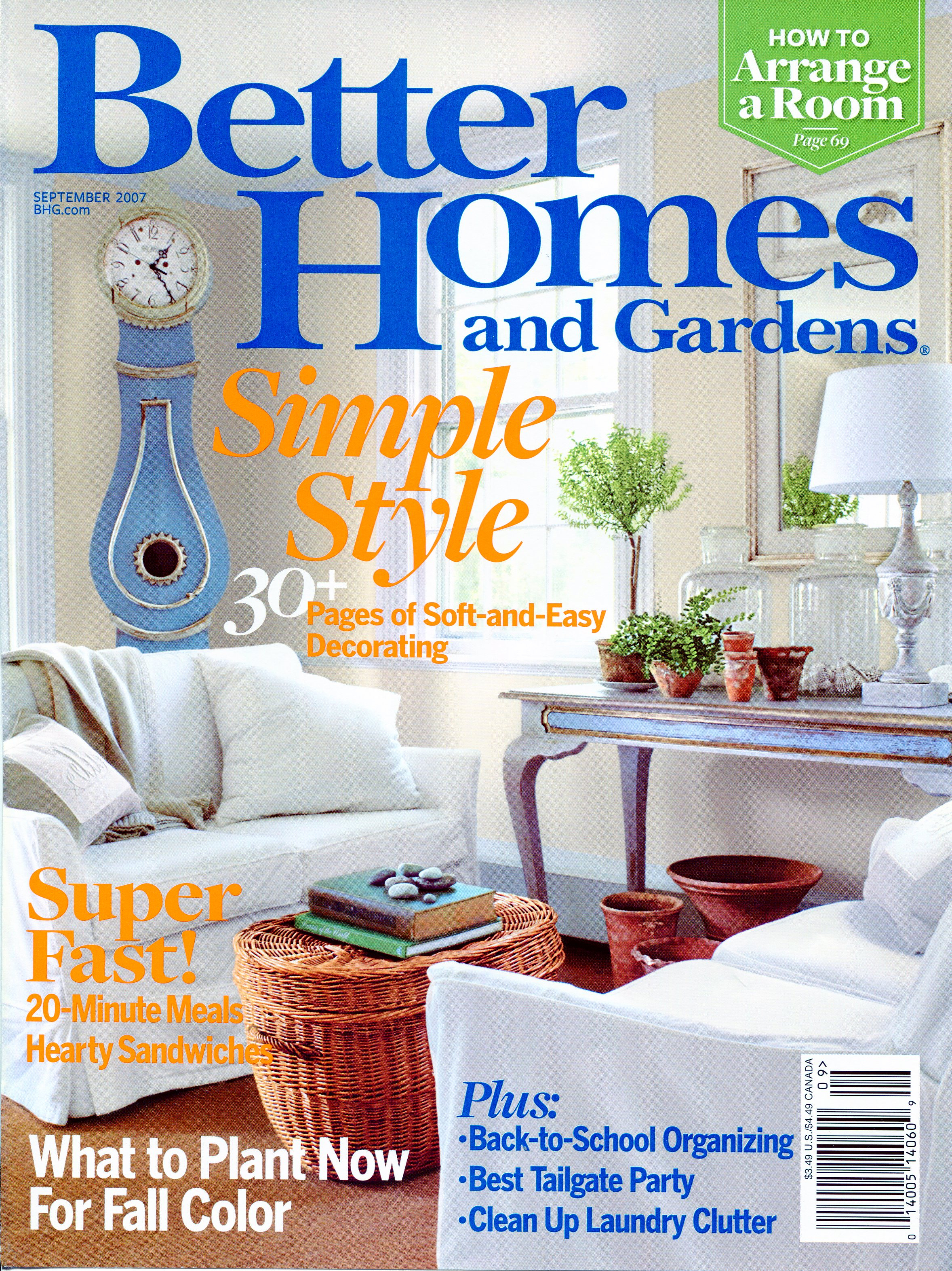 Better Homes And Gardens September 2007   Throughout Editorial Calendar Better Homes And Gardens