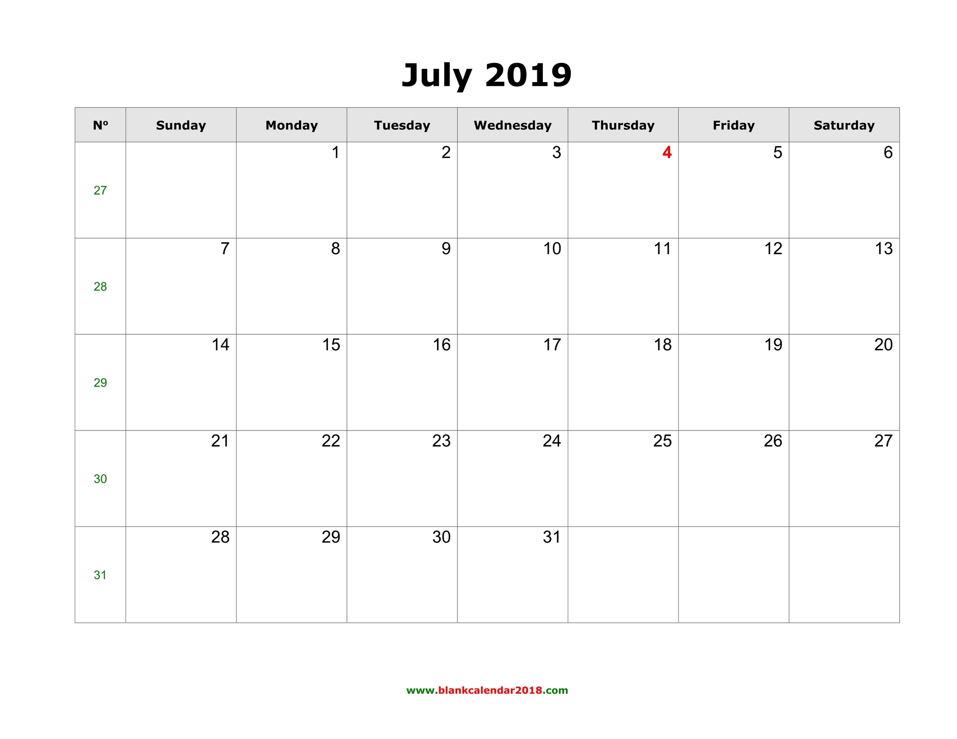 Blank Calendar For July 2019 with Where To Find Google Printable Amendable Calander