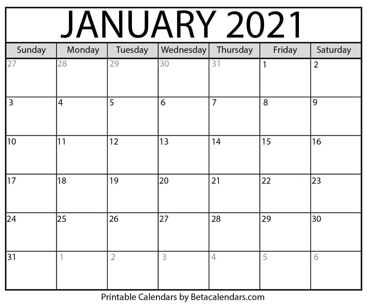 Blank January 2021 Calendar Printable With Fall Tv Line Up 2021 2020 Printable