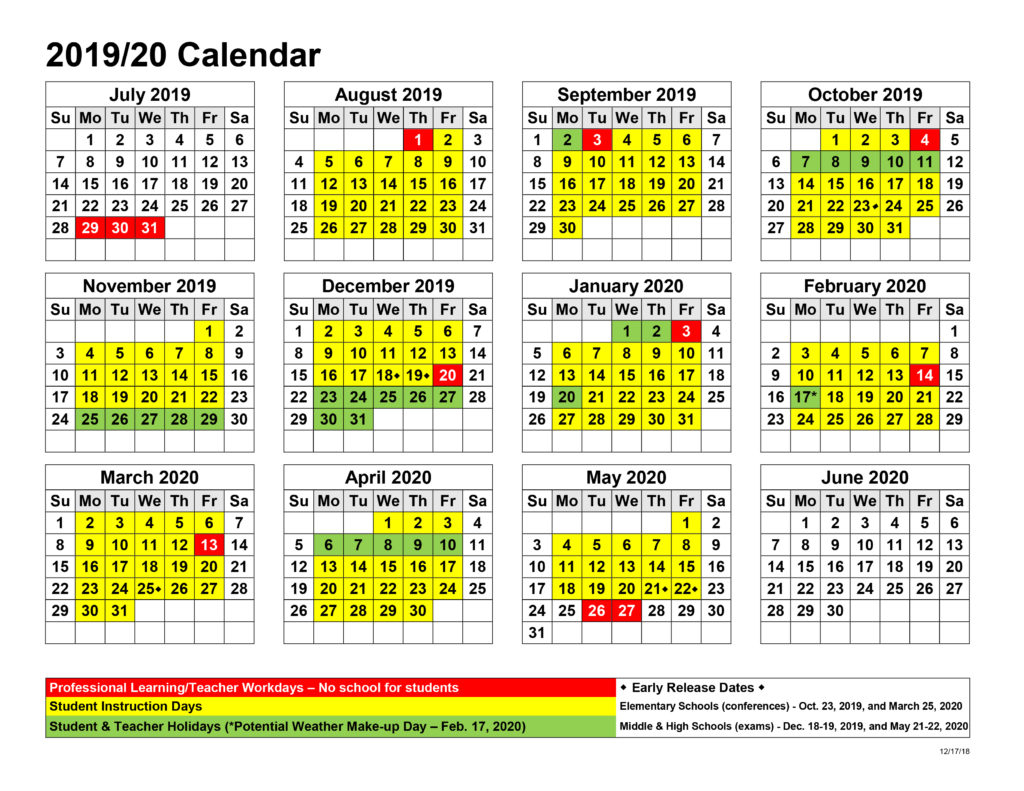 Board Approves Upcoming Calendars – Jackson County Intended For Walnut Hills High School 2021 2020 Calendar