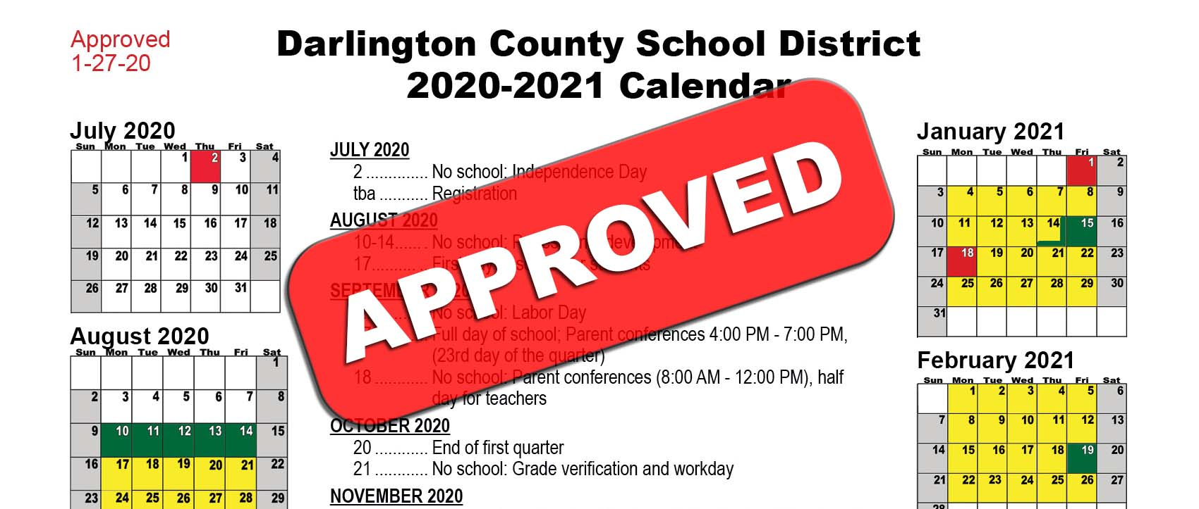 Board Of Education Approves 2020 2021 District Calendar Intended For Georgia State University Calendar 2021 2020