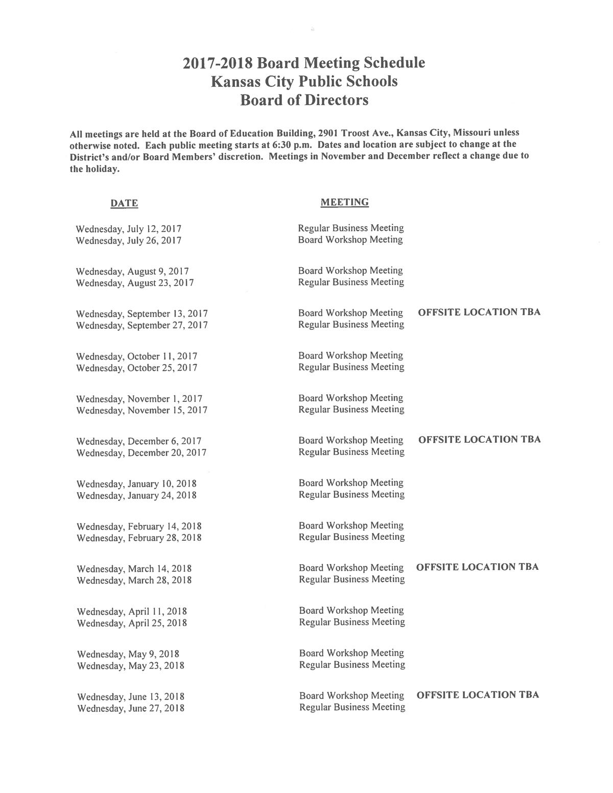 Board Of Education Calendar / Board Of Education Calendar Regarding Board Of Education Calendar