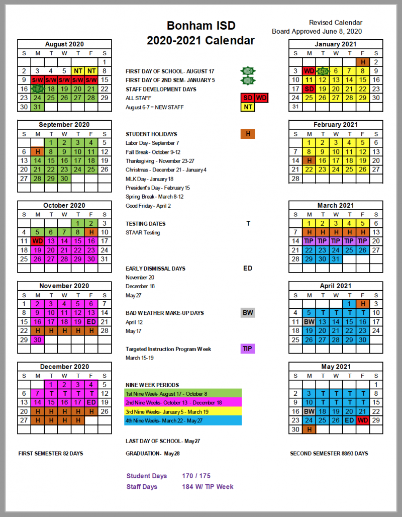 Bonham Isd – Home Intended For Brownsville Isd Calendar 2021