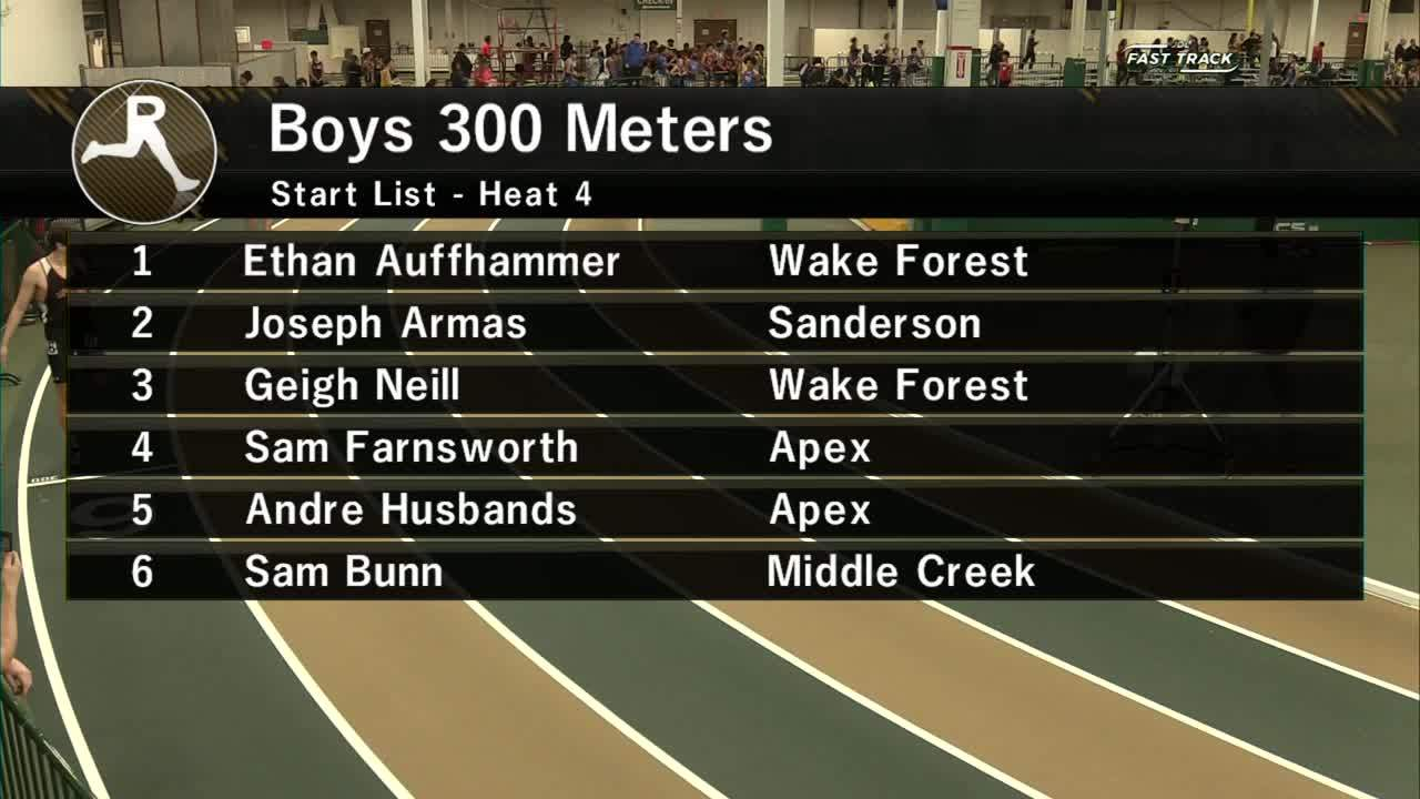 Boys 300M Section 4 - Wake County Invitational #1 2019 regarding Wake County Track 4